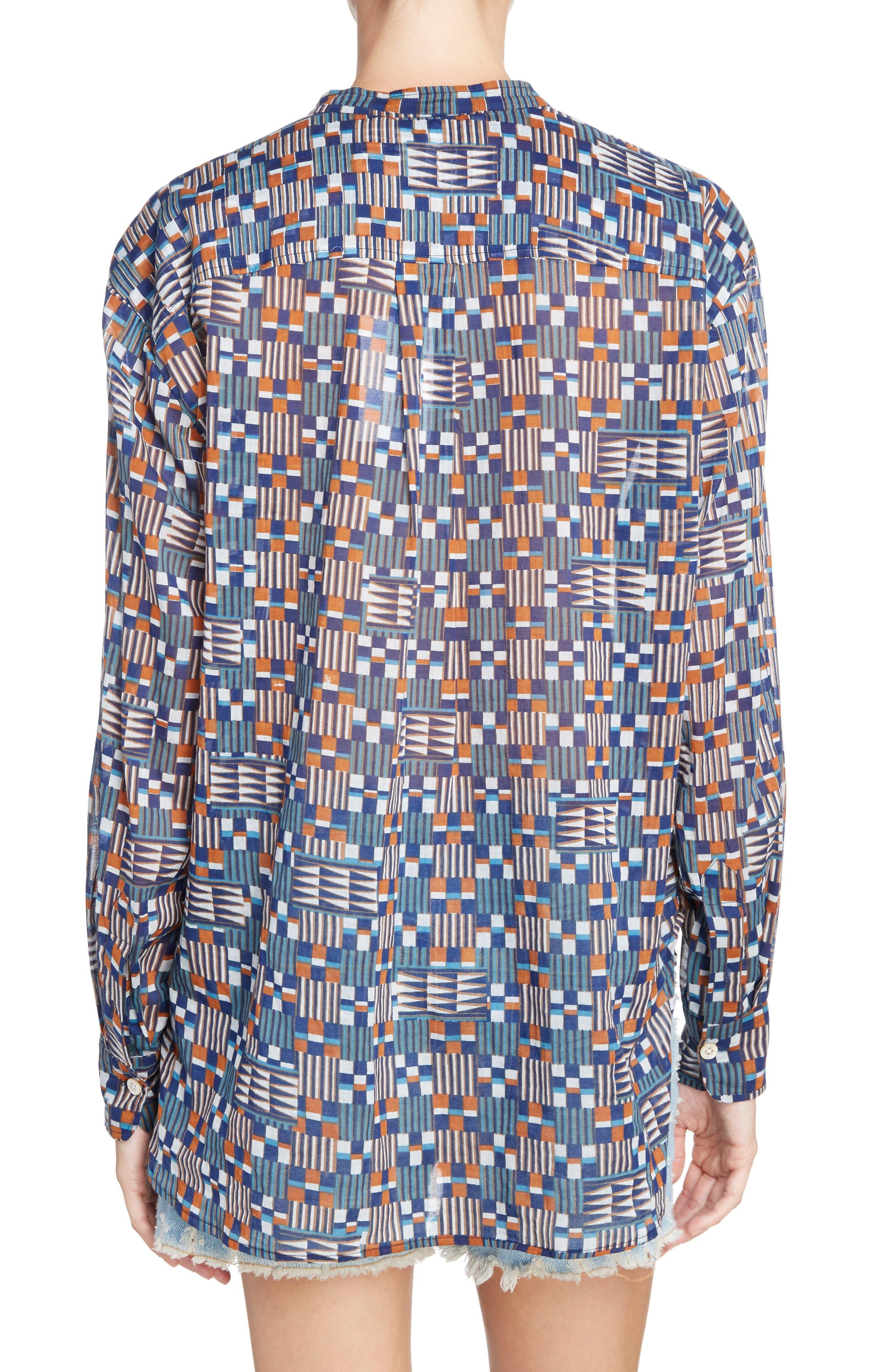 Isabel Marant Étoile Nahla Print Cotton Shirt,                             Alternate thumbnail 2, color,                             400