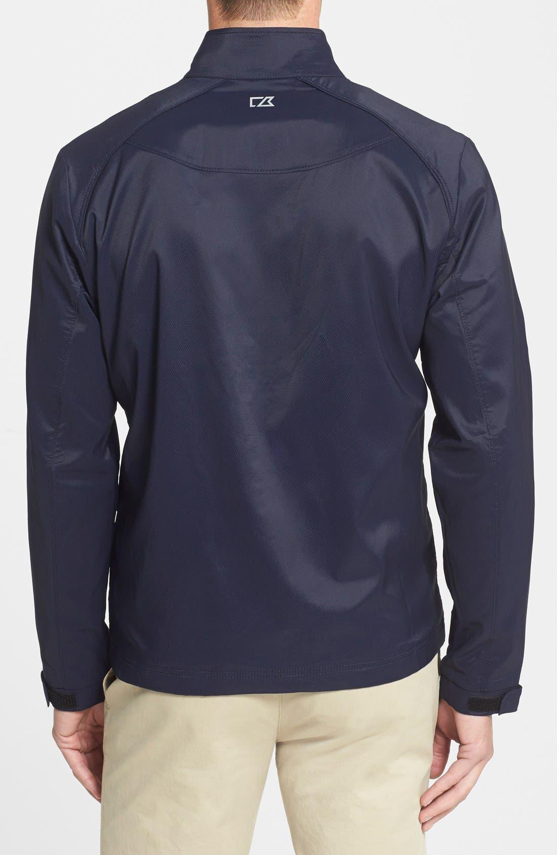 Blakely WeatherTec<sup>®</sup> Wind & Water Resistant Full Zip Jacket,                             Alternate thumbnail 3, color,                             LIBERTY NAVY
