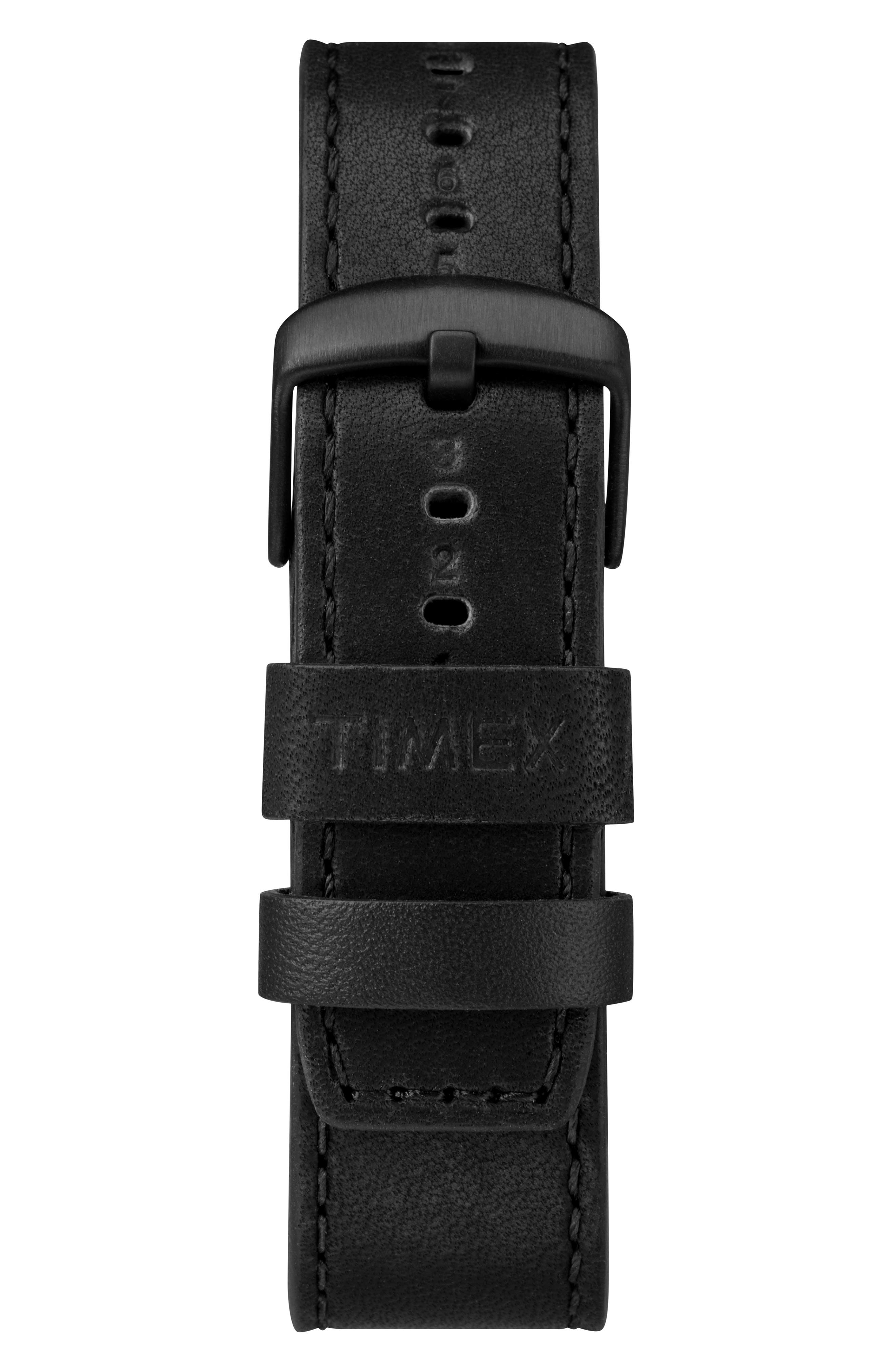 TIMEX<SUP>®</SUP> X TODD SNYDER,                             The Military Chronograph Leather Strap Watch Set, 43mm,                             Alternate thumbnail 2, color,                             001
