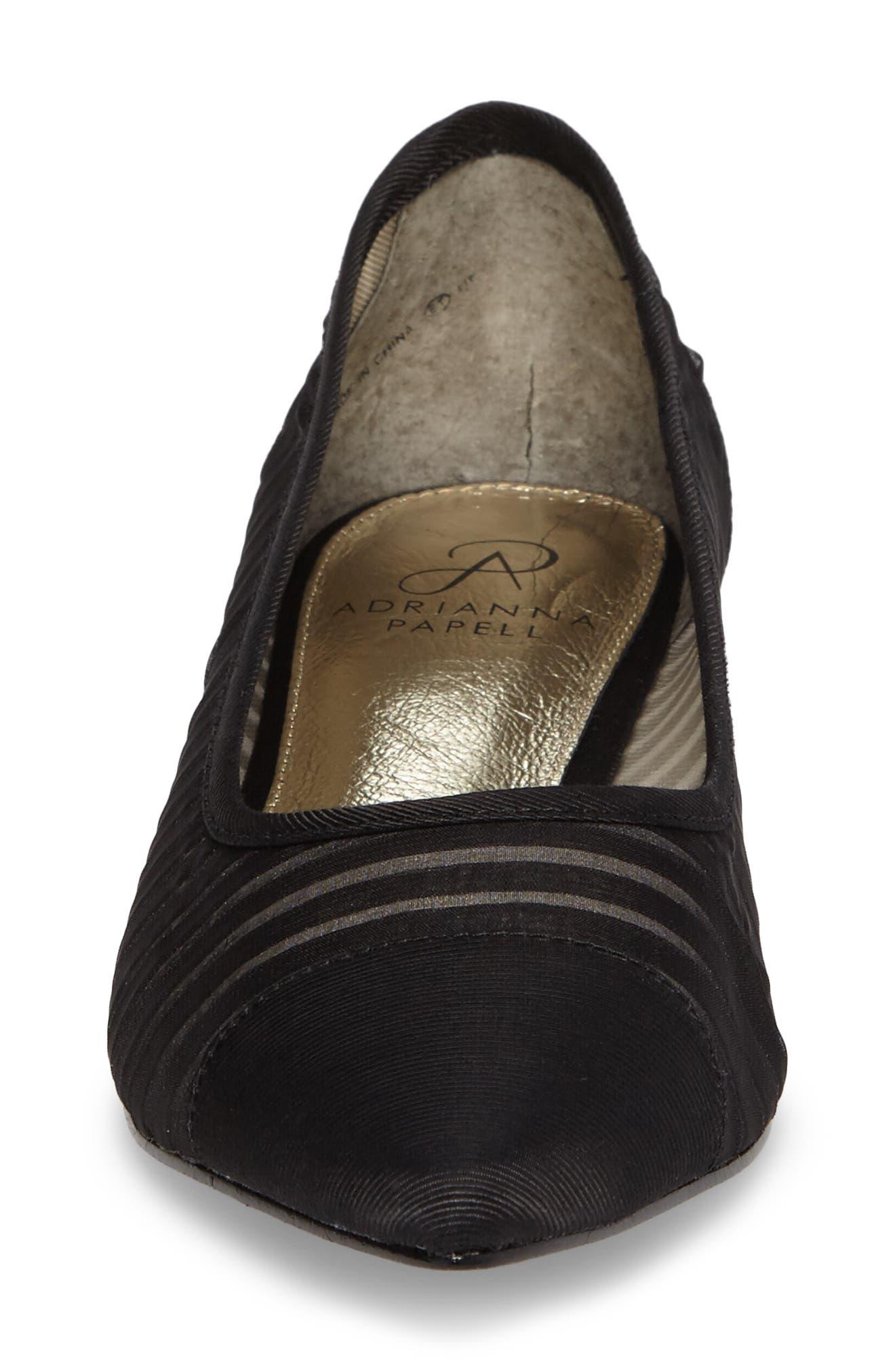 Tiffany Pointy Toe Flat,                             Alternate thumbnail 4, color,                             001