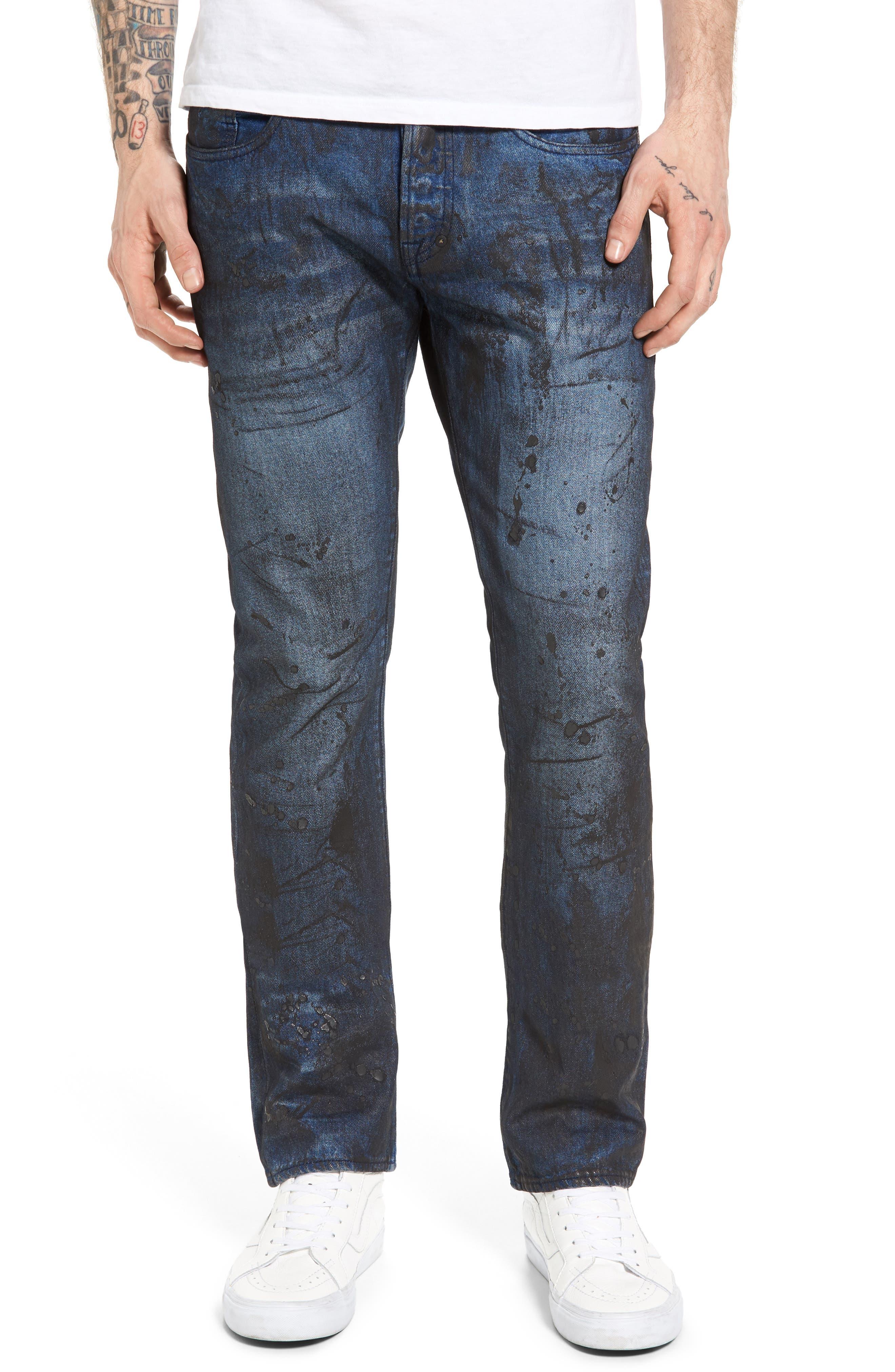 PRPS Demon Slim Straight Leg Jeans, Main, color, 400