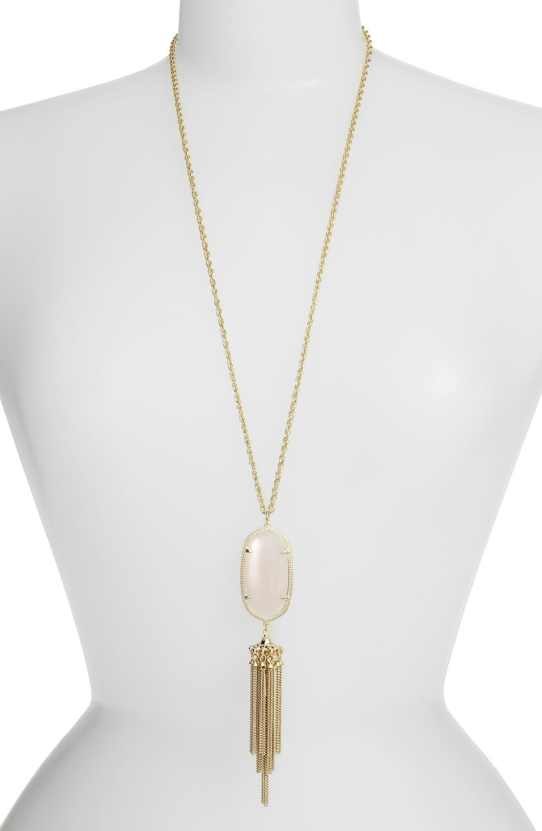Rayne Stone Tassel Pendant Necklace,                             Main thumbnail 15, color,
