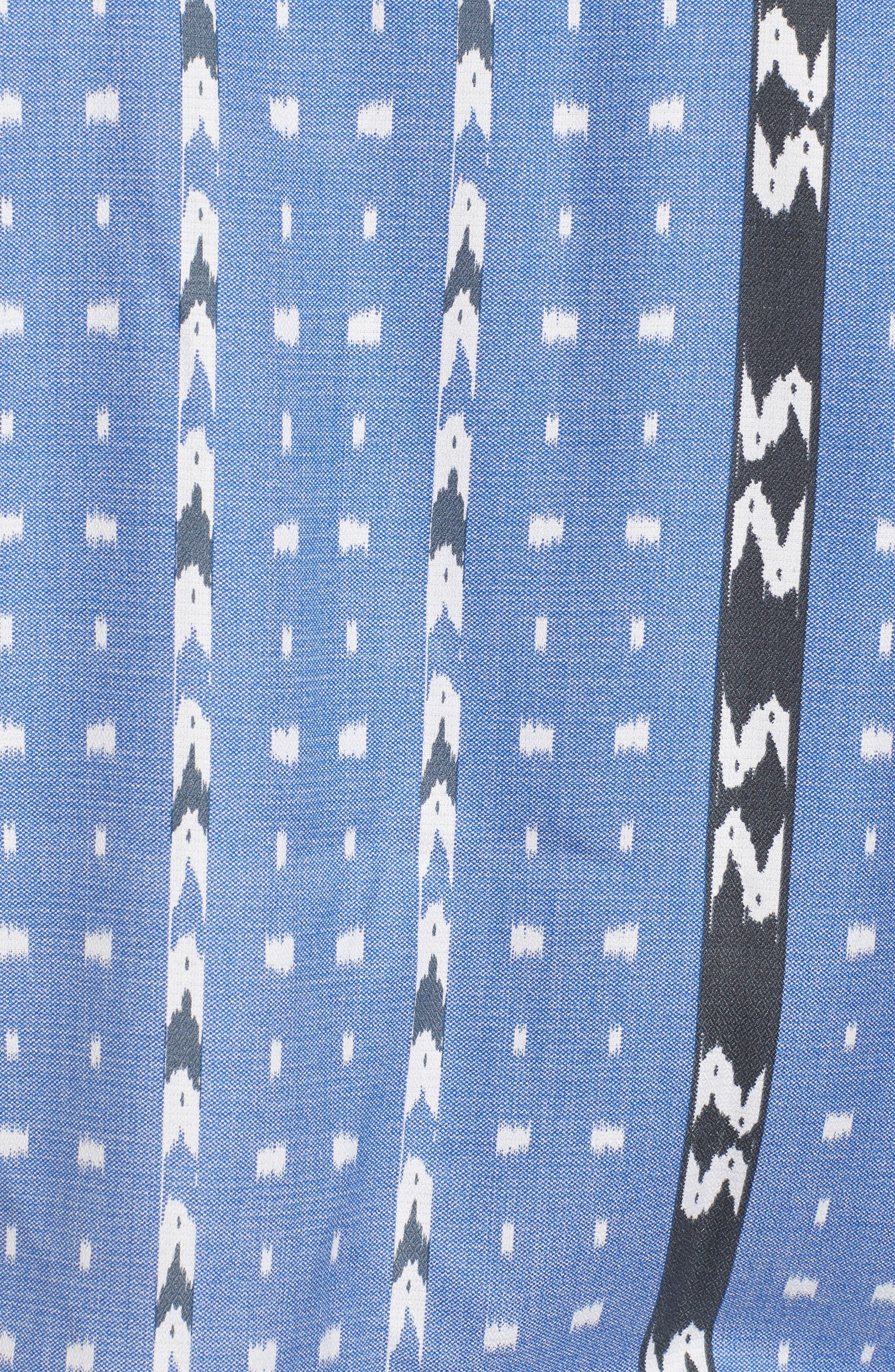 Ikat Don't Stop Silk Blend Camp Shirt,                             Alternate thumbnail 5, color,                             400