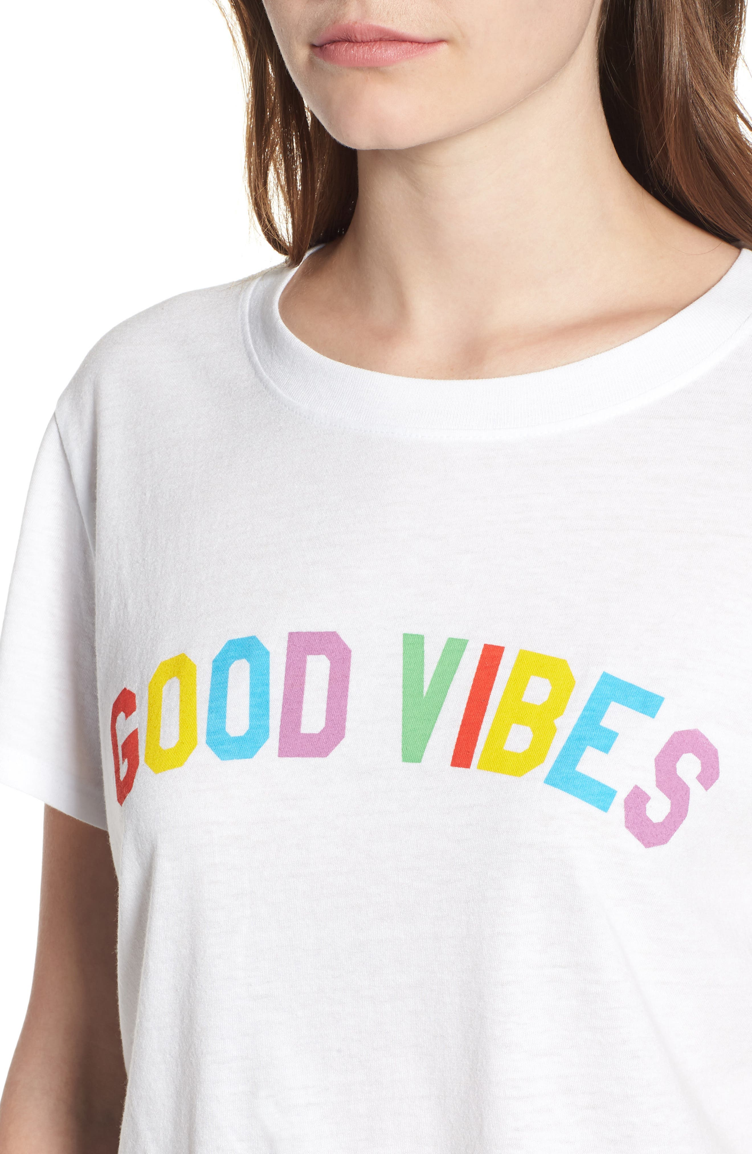 Good Vibes Tee,                             Alternate thumbnail 4, color,                             100