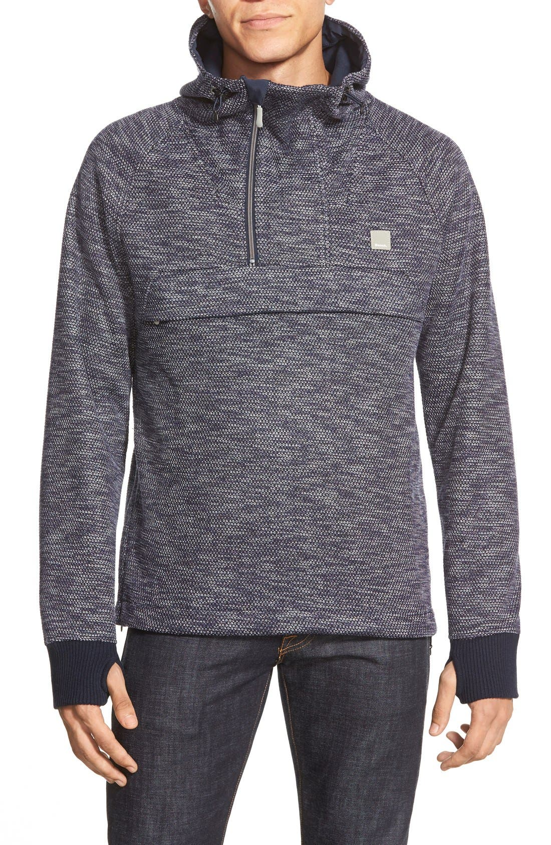 Bench 'Dissection' Quarter Zip Hoodie, Main, color, 410