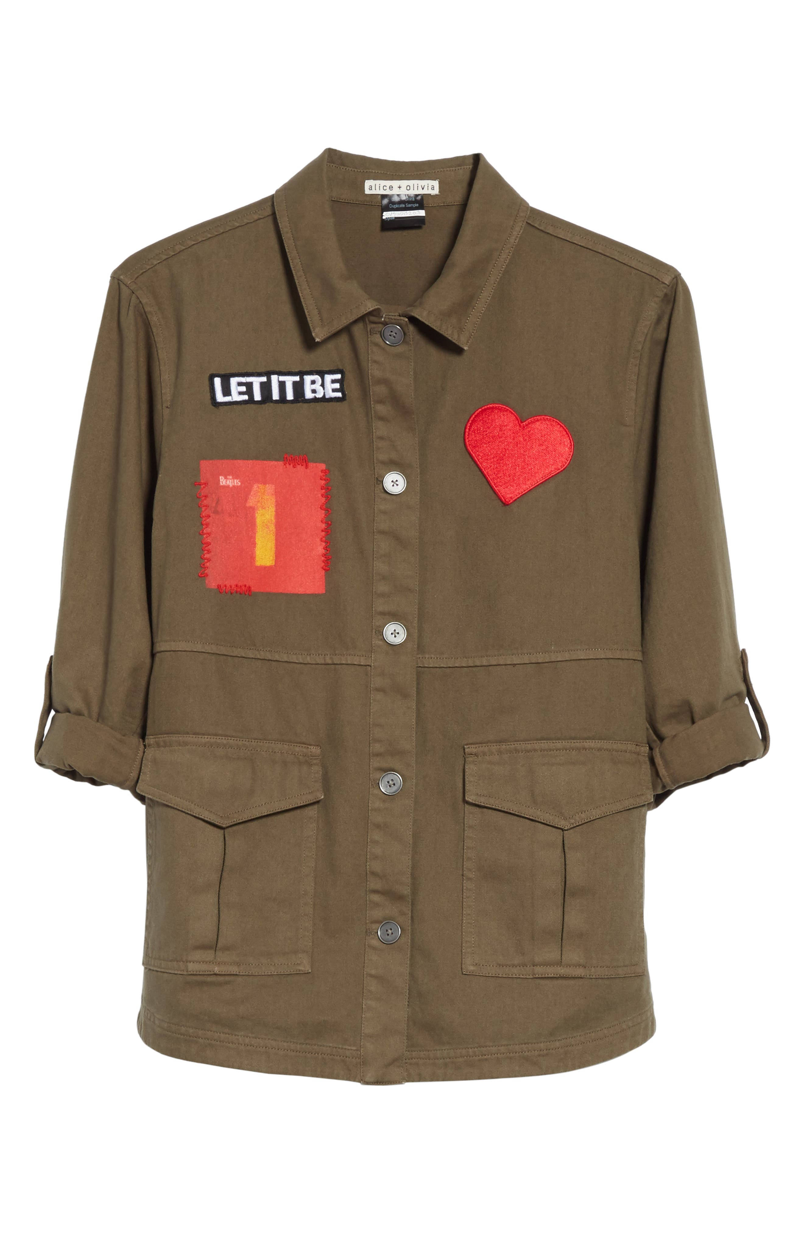 AO x The Beatles Charline Oversize Patch Military Jacket,                             Alternate thumbnail 5, color,                             315