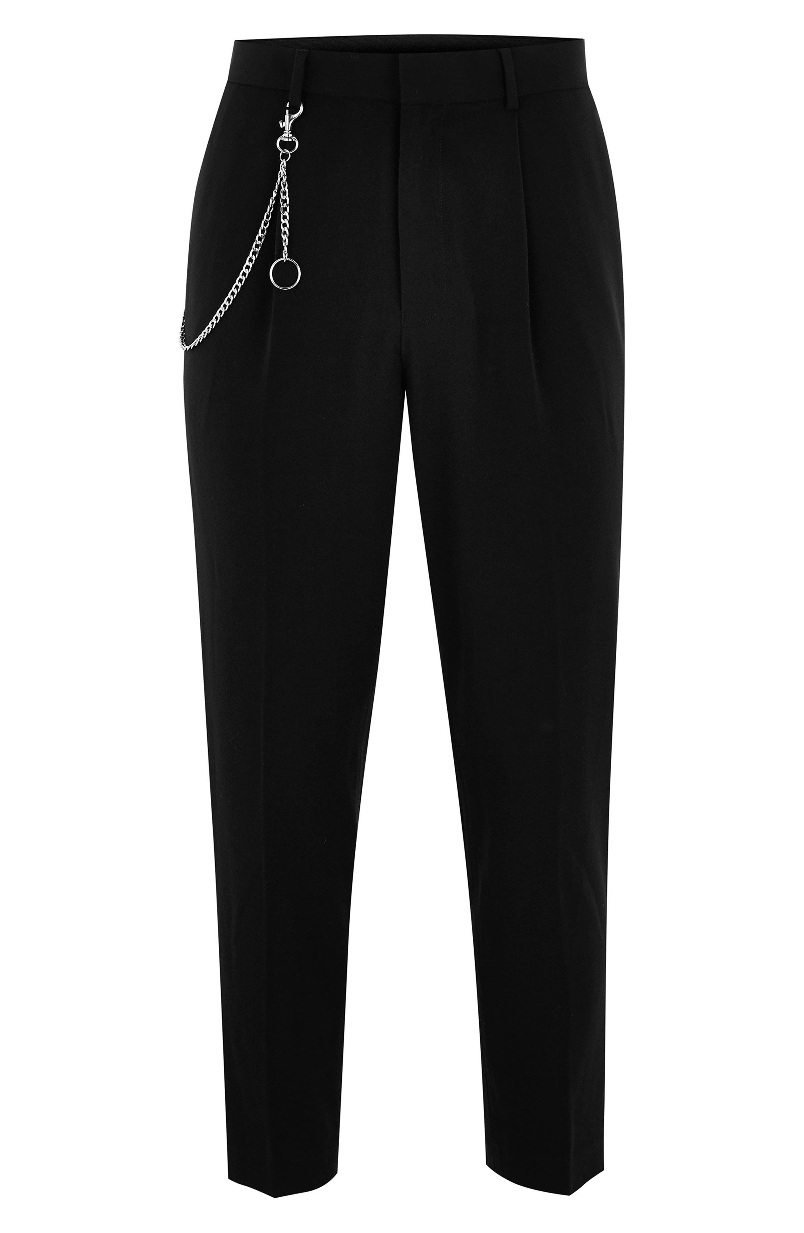 Tapered Trousers,                             Alternate thumbnail 4, color,                             BLACK