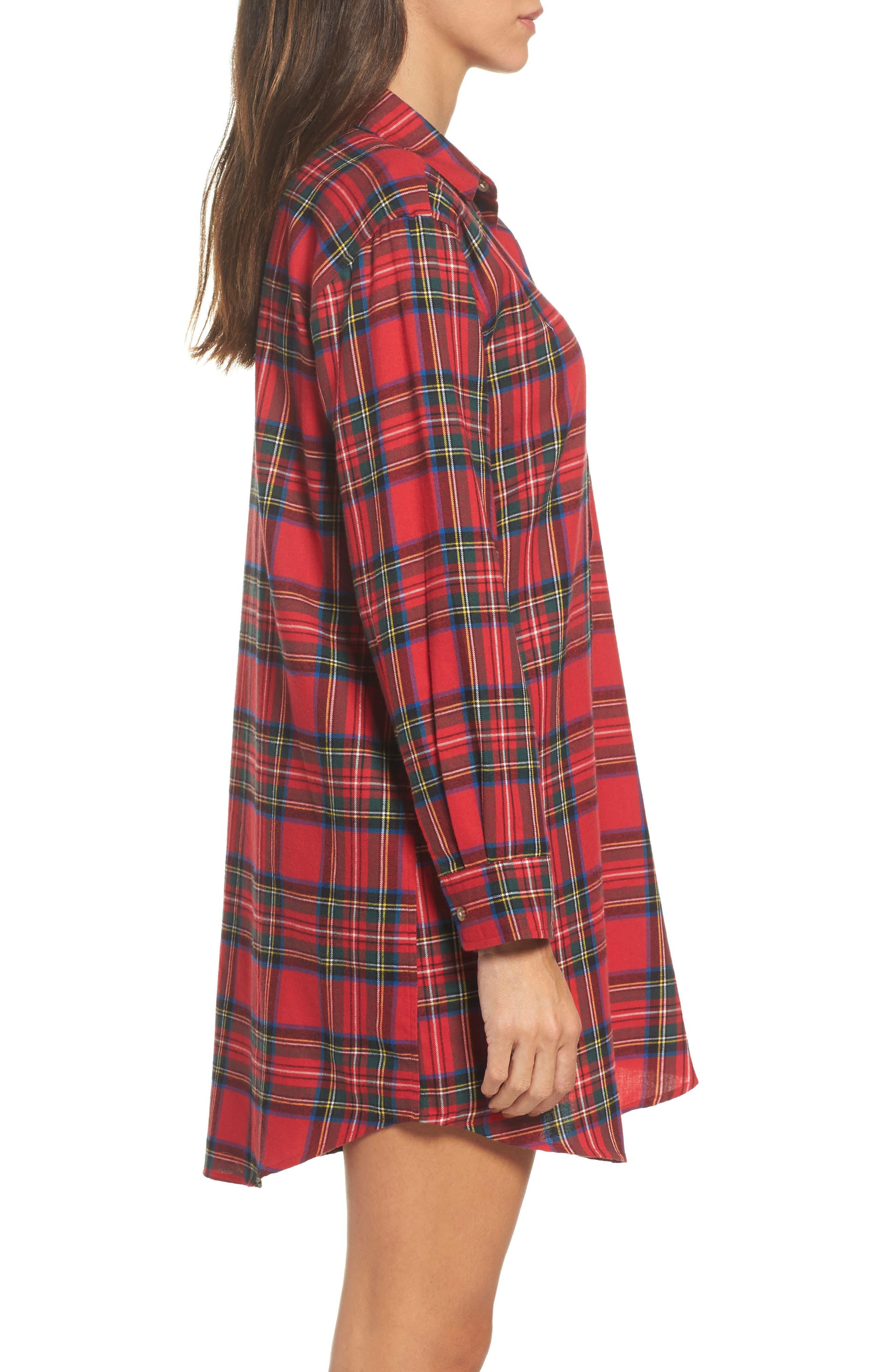 Flannel Sleep Shirt,                             Alternate thumbnail 10, color,