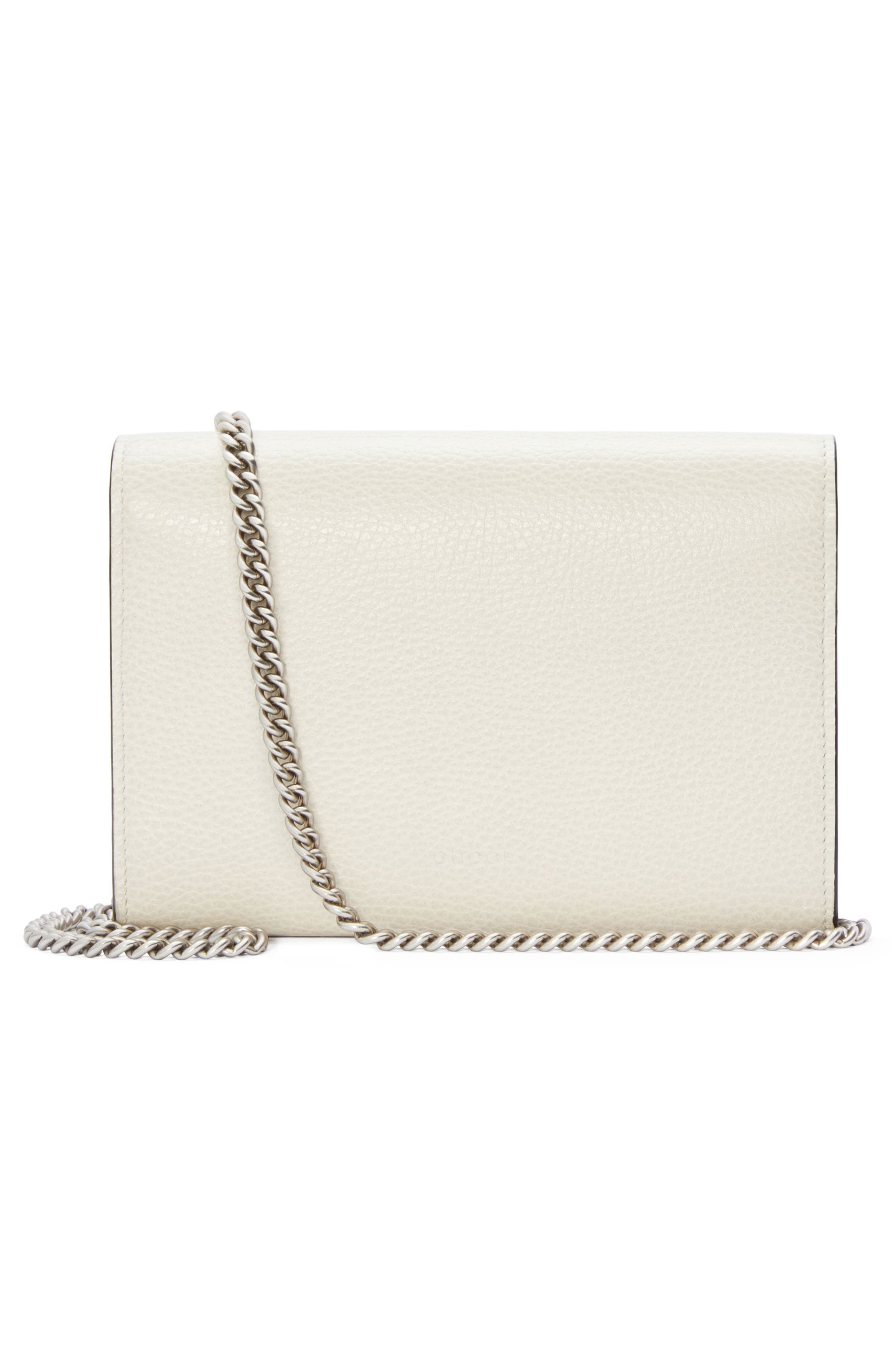 Small Dionysus Leather Clutch,                             Alternate thumbnail 2, color,                             MYSTIC WHITE/ BLACK DIAMOND