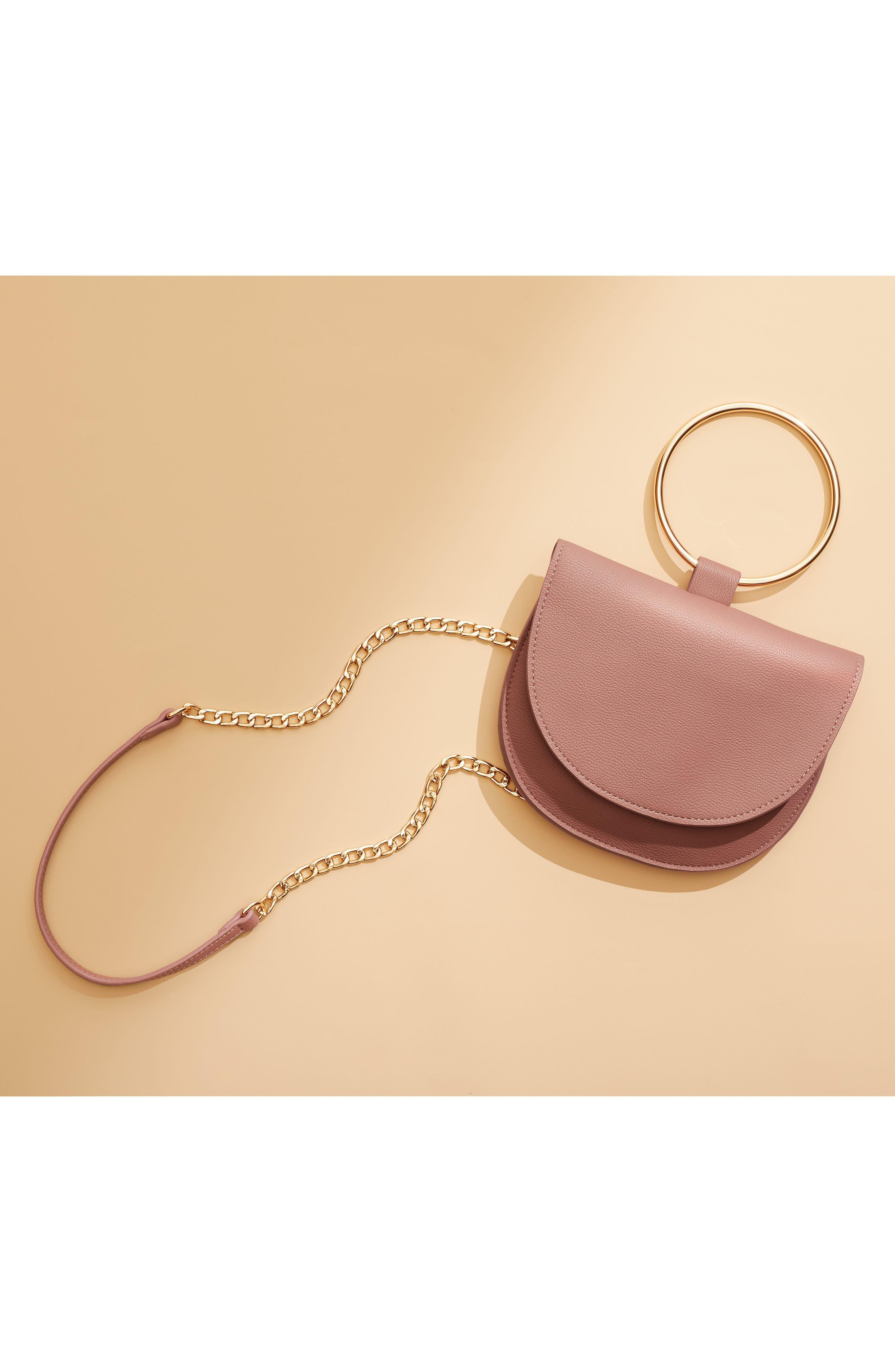 Reese Ring Crossbody Bag,                             Alternate thumbnail 7, color,                             GREY FLINT