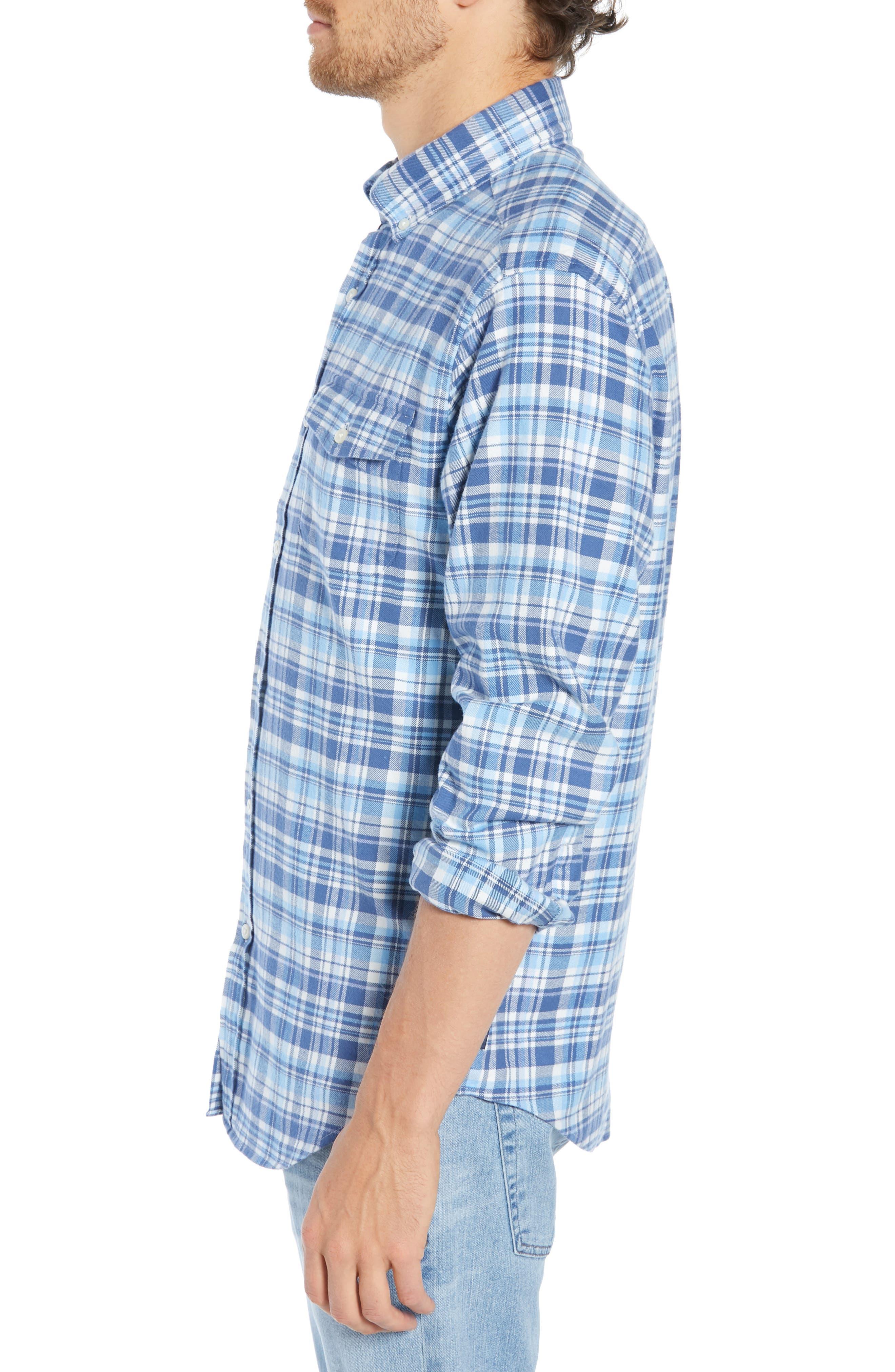 Mill Hill Regular Fit Plaid Flannel Shirt,                             Alternate thumbnail 4, color,                             MOONSHINE