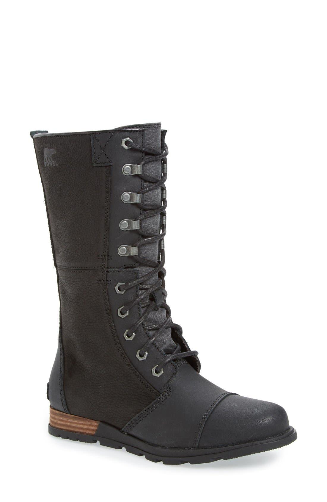 'Major Maverick' Mid Calf Zip Boot, Main, color, 010
