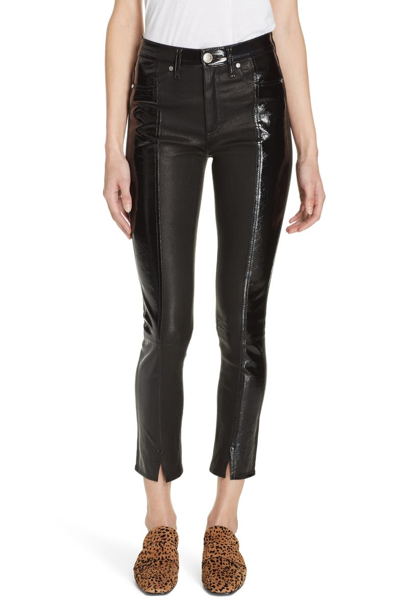 RAG & BONE EVELYN SKINNY LAMBSKIN LEATHER PANTS