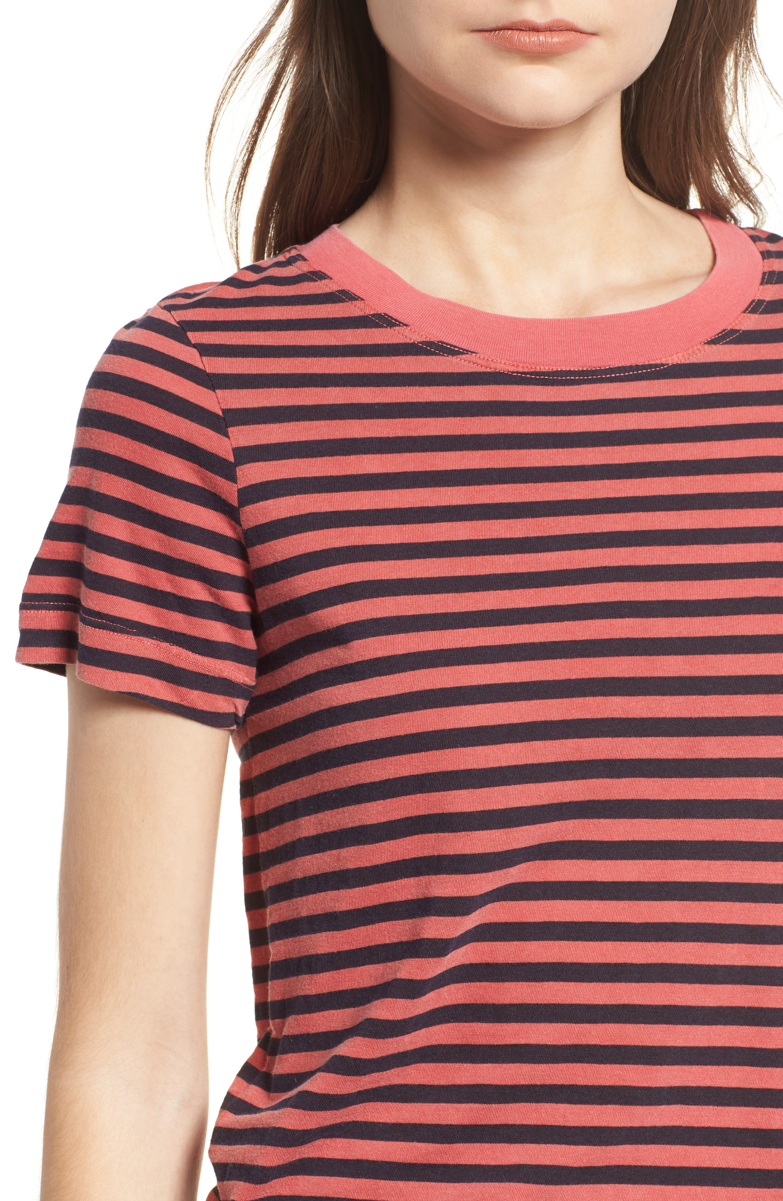 Stripe Cotton Boy Tee,                             Alternate thumbnail 4, color,