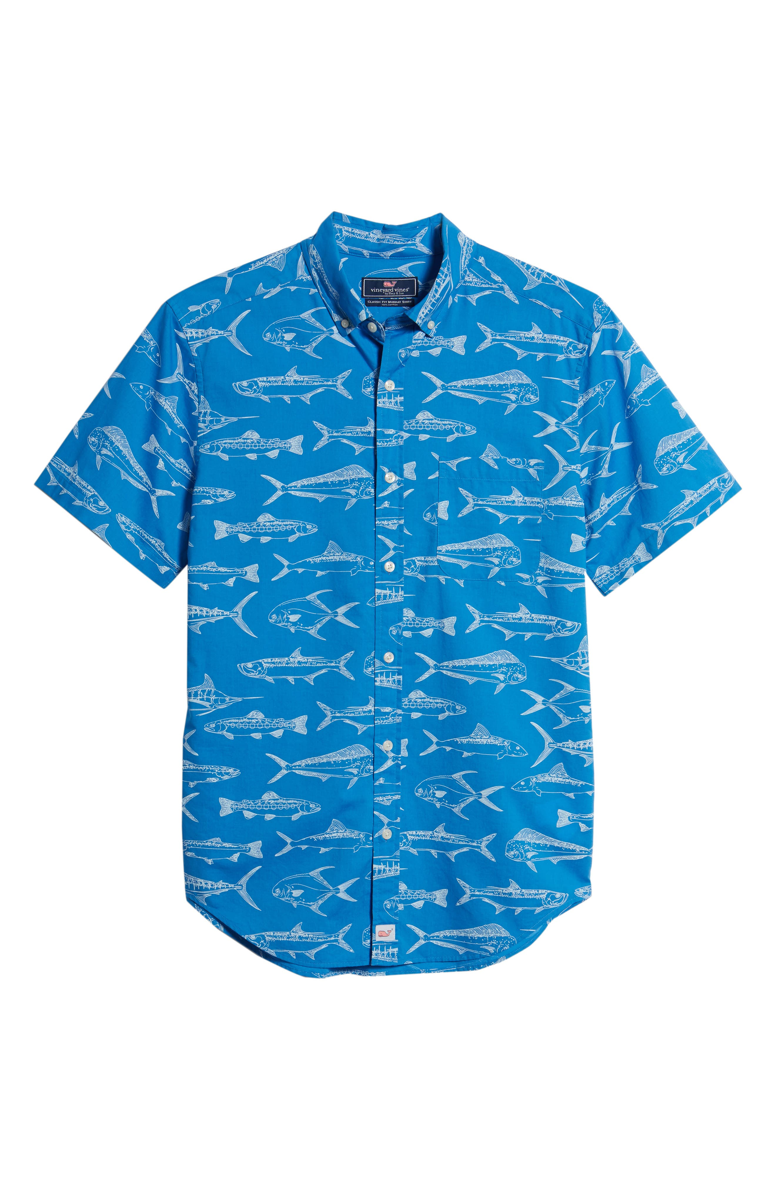 Fish Outlines Classic Fit Sport Shirt,                             Alternate thumbnail 6, color,                             421