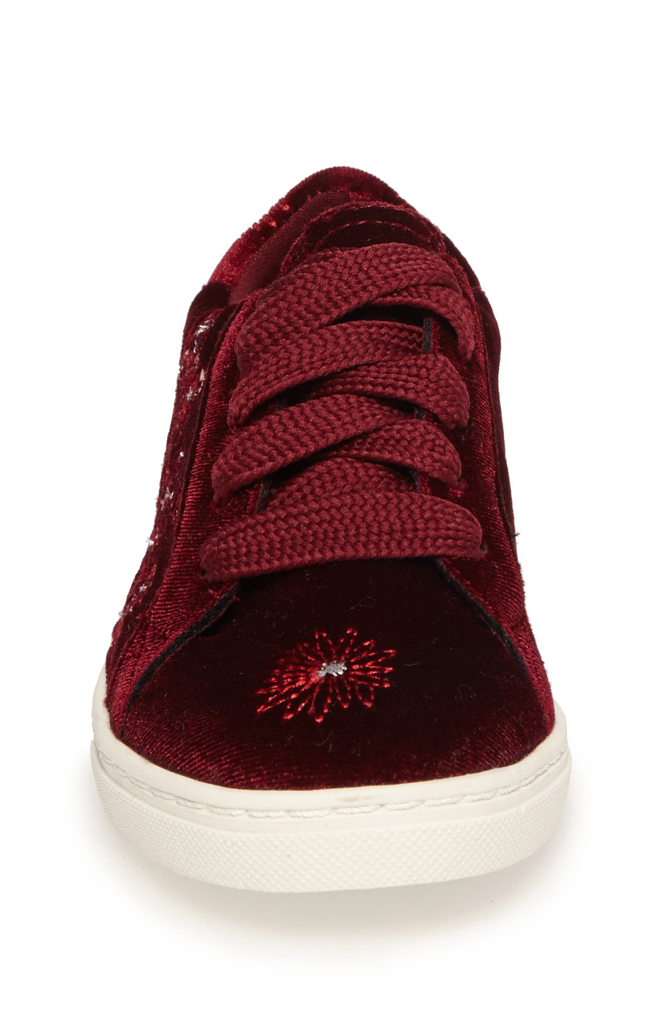 Zolly Floral Embroidered Sneaker,                             Alternate thumbnail 4, color,