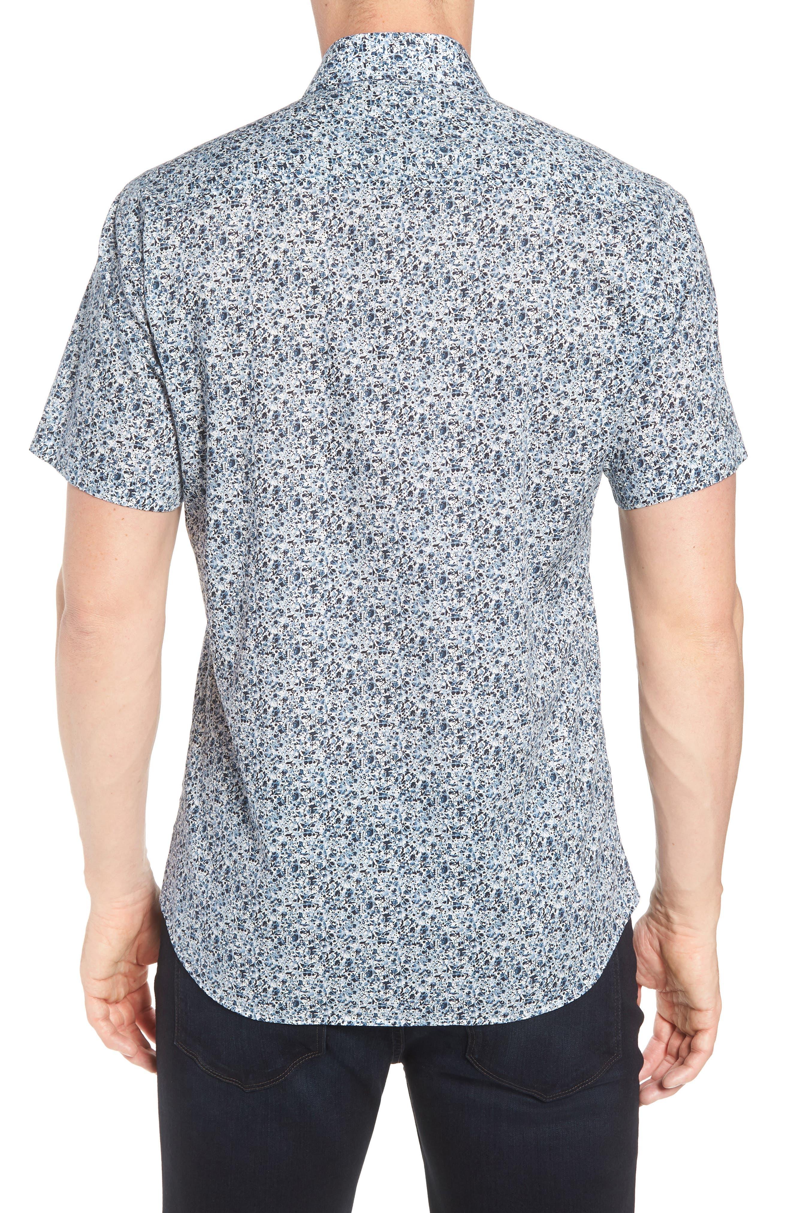 Speckle Print Sport Shirt,                             Alternate thumbnail 2, color,                             BLUE SPECKLE