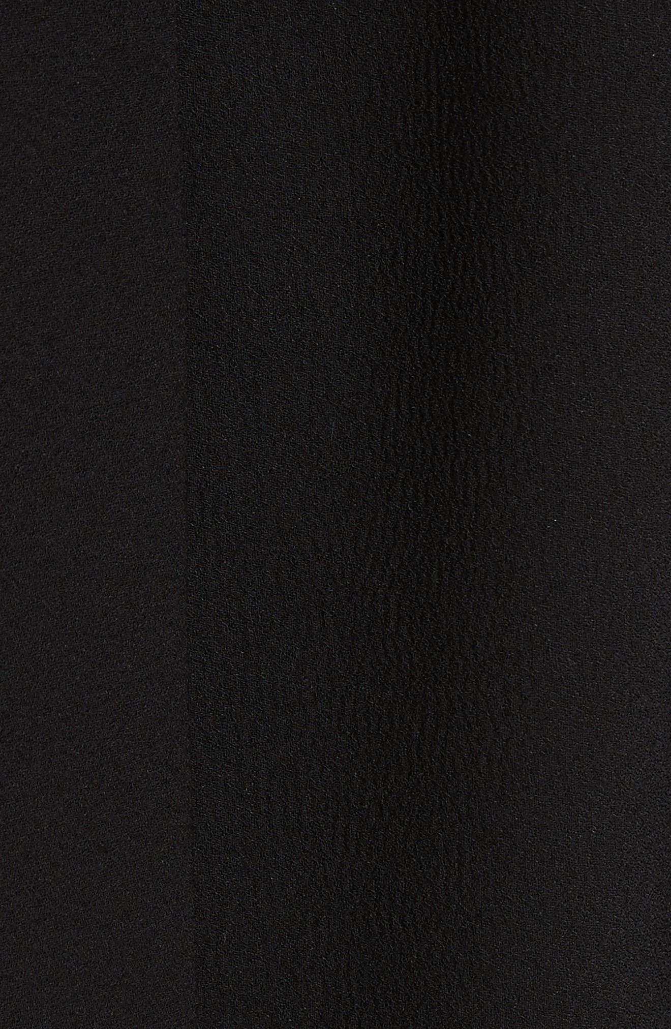 Tie Back Crepe Blouse,                             Alternate thumbnail 5, color,                             001