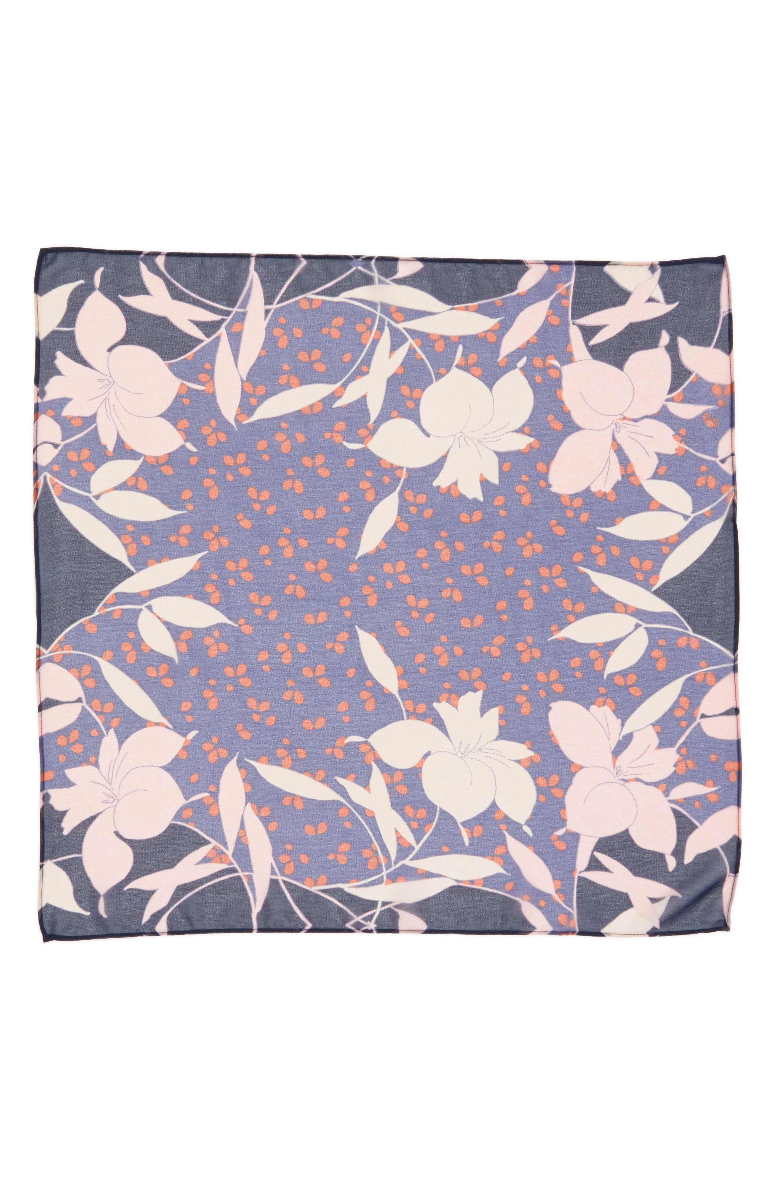 Floral Square Scarf,                             Alternate thumbnail 3, color,                             410