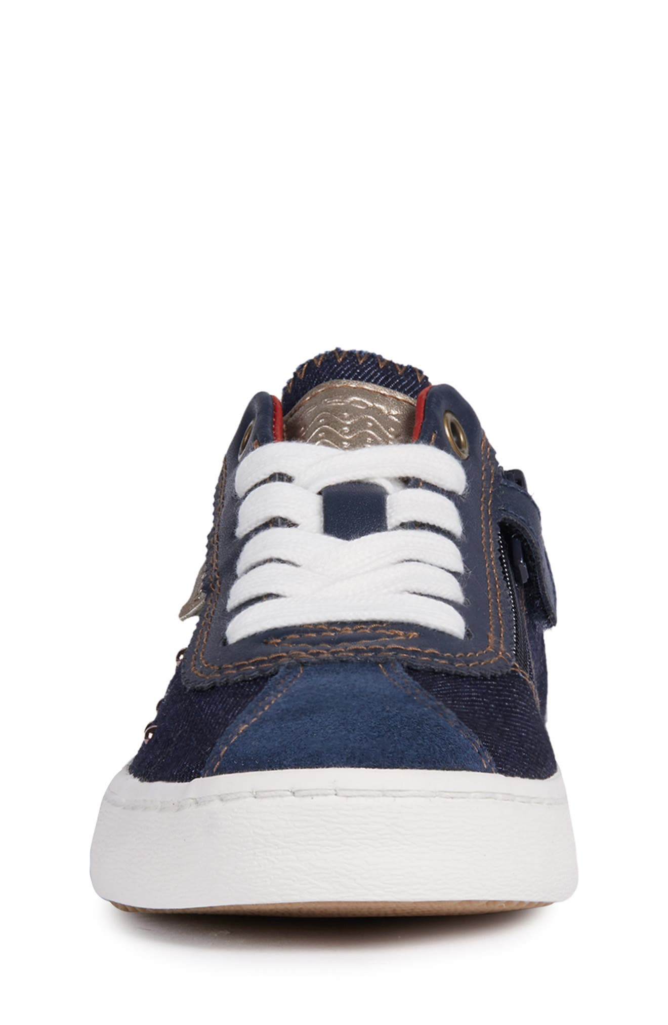 Kilwi Zip Low Top Sneaker,                             Alternate thumbnail 3, color,                             NAVY