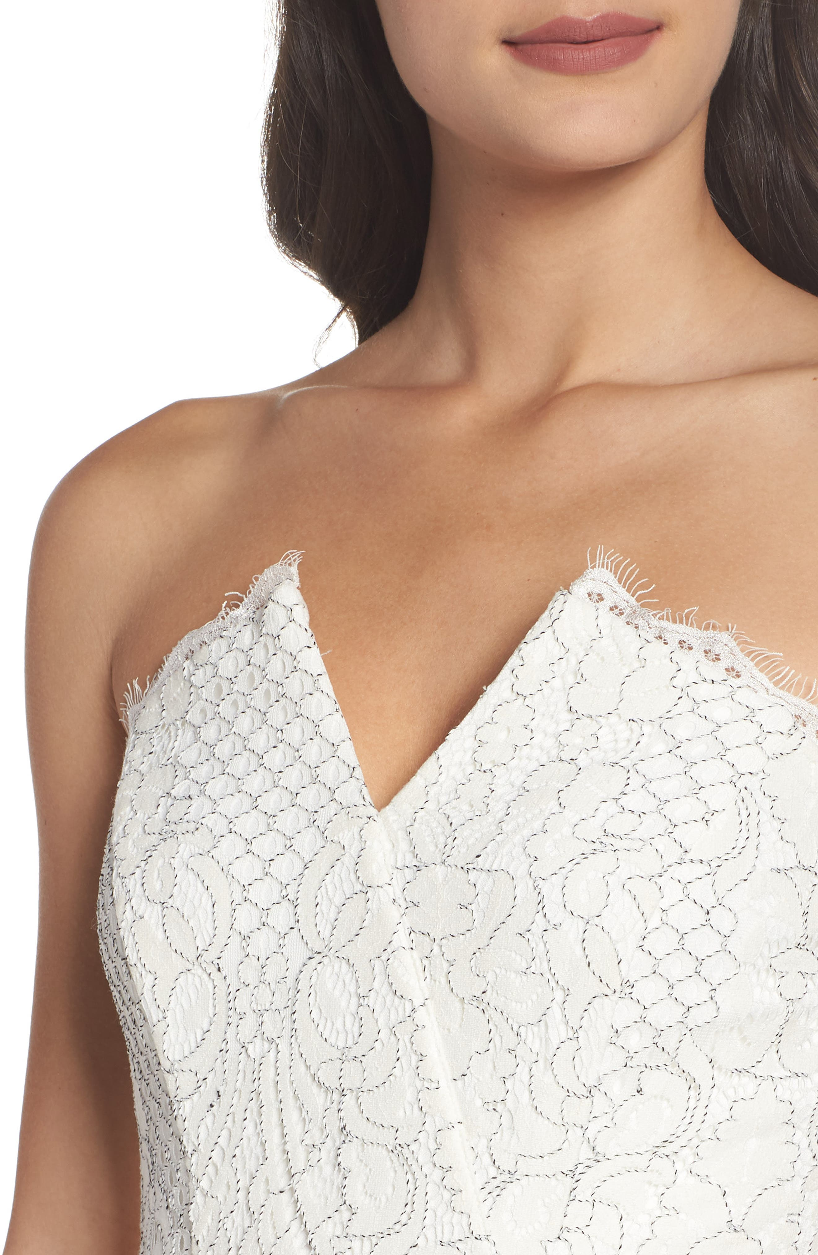 HARLYN,                             Strapless Lace Cocktail Dress,                             Alternate thumbnail 5, color,                             902