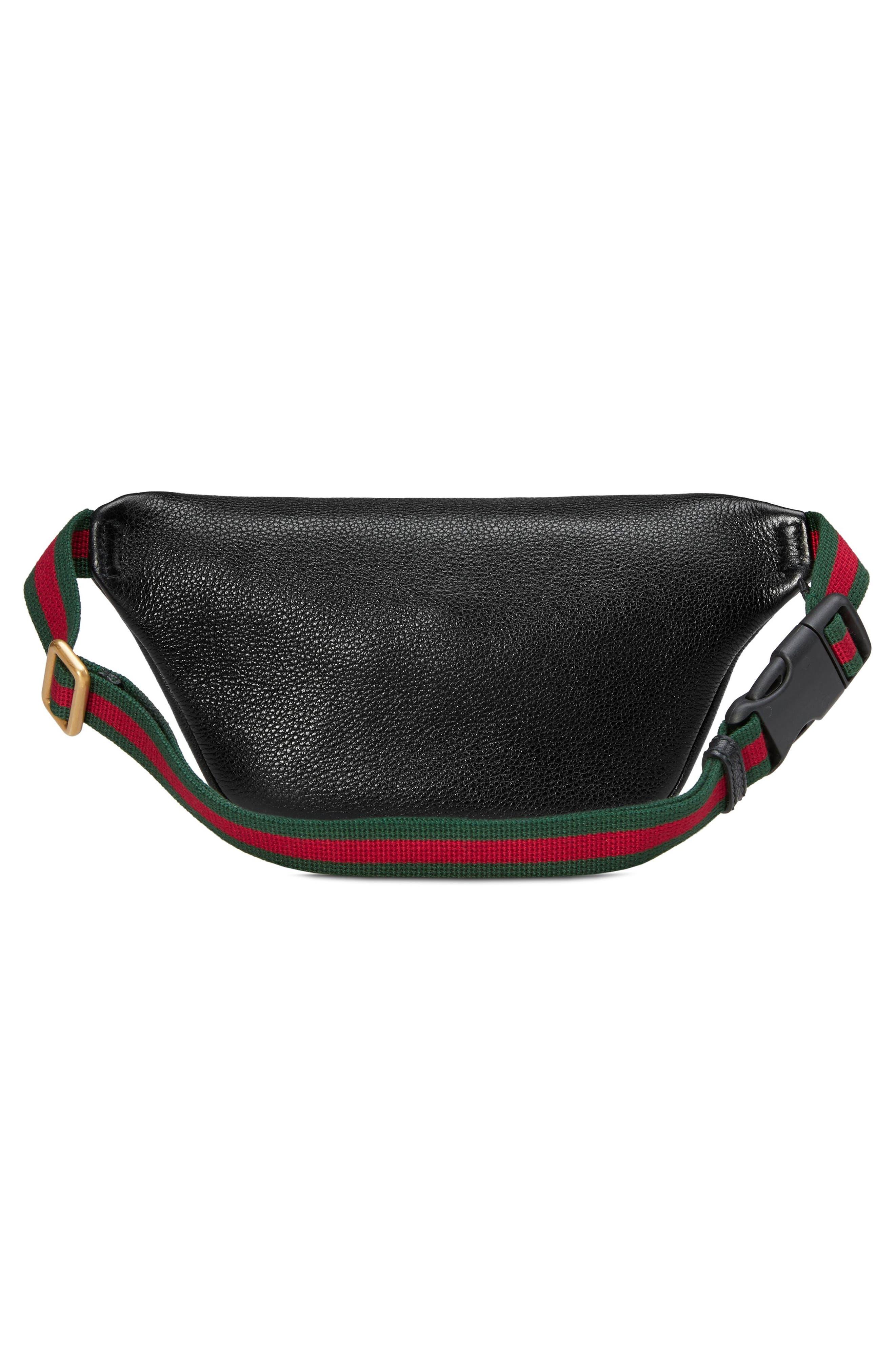Leather Belt Bag,                             Alternate thumbnail 2, color,                             001