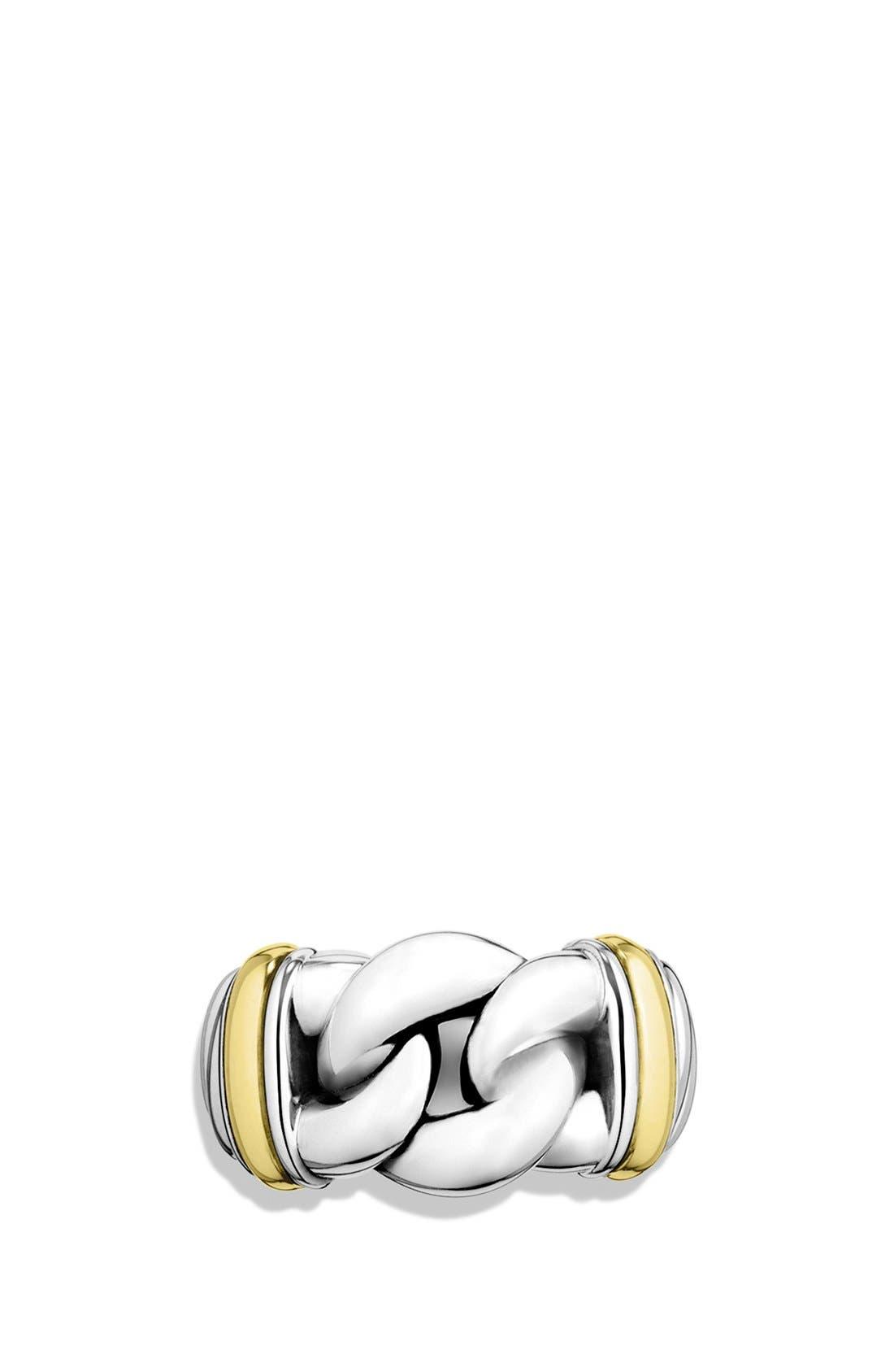 DAVID YURMAN,                             'Metro' Ring with Gold,                             Alternate thumbnail 2, color,                             040