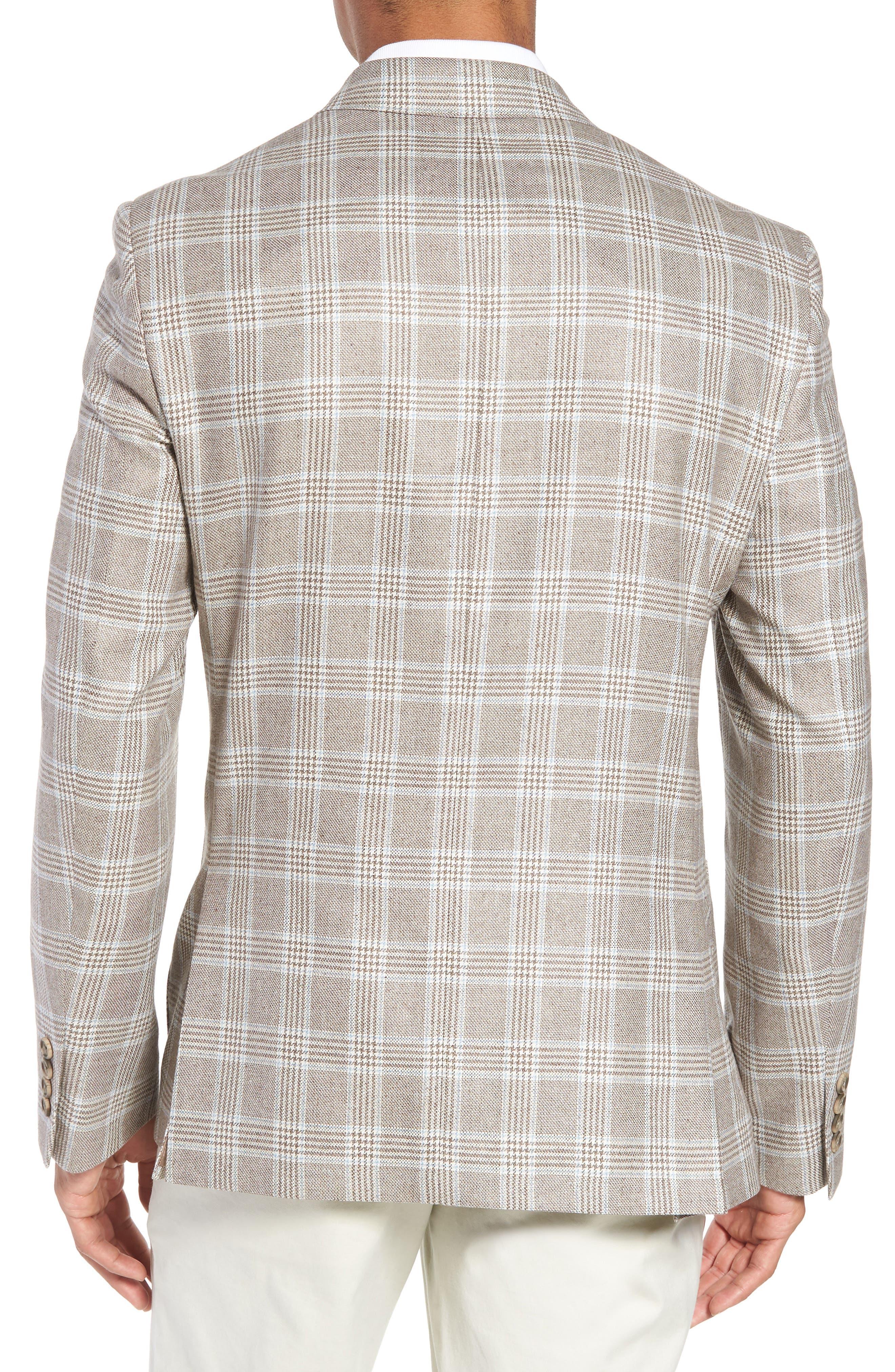 Trim Fit Plaid Silk & Wool Sport Coat,                             Alternate thumbnail 2, color,                             235