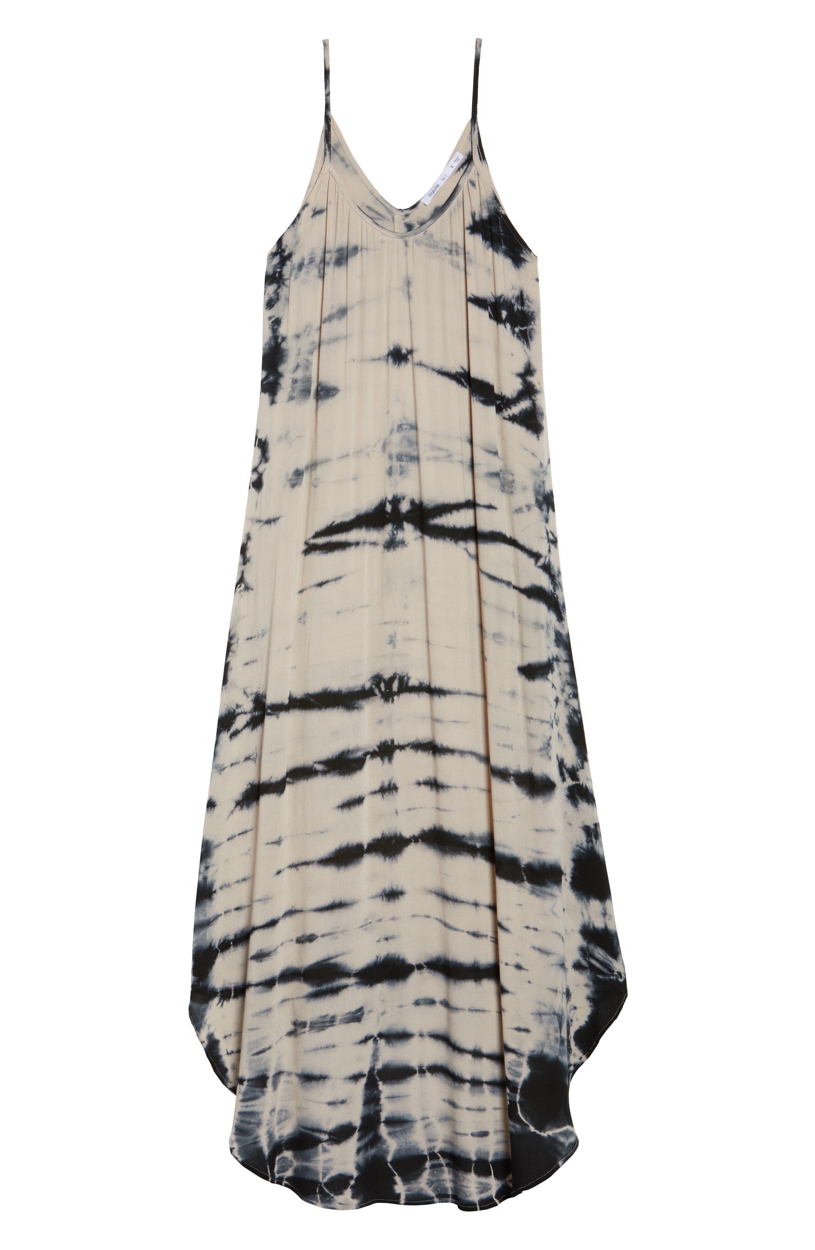 Tie Dye A-Line Maxi Dress,                             Alternate thumbnail 6, color,                             250