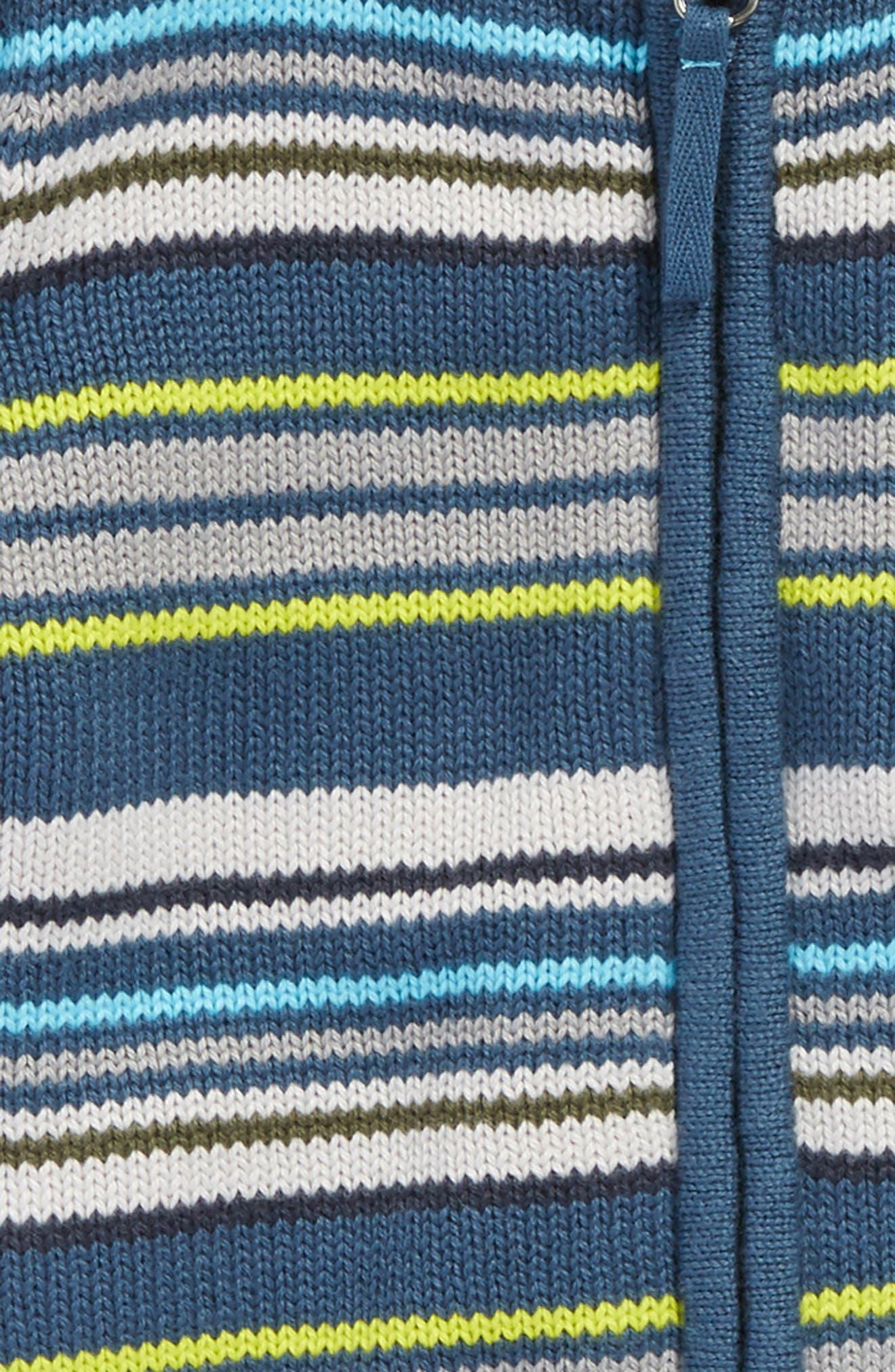 Gavin Stripe Zip Cardigan,                             Alternate thumbnail 2, color,                             497