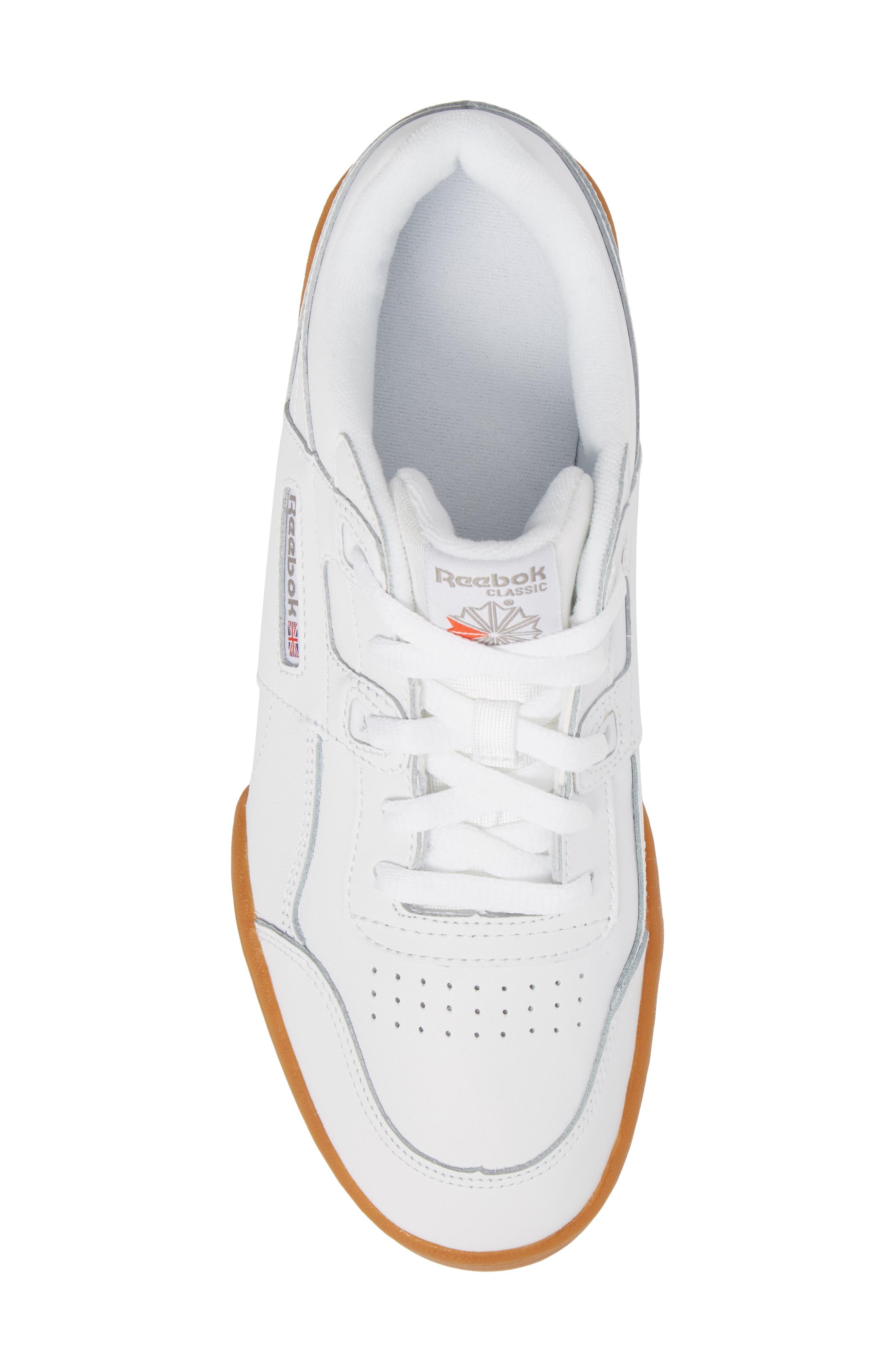 Workout Plus Sneaker,                             Alternate thumbnail 5, color,                             WHITE