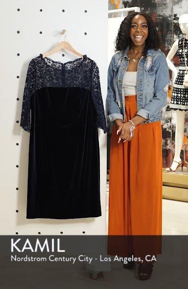 Lace & Stretch Velvet Cocktail Dress, sales video thumbnail