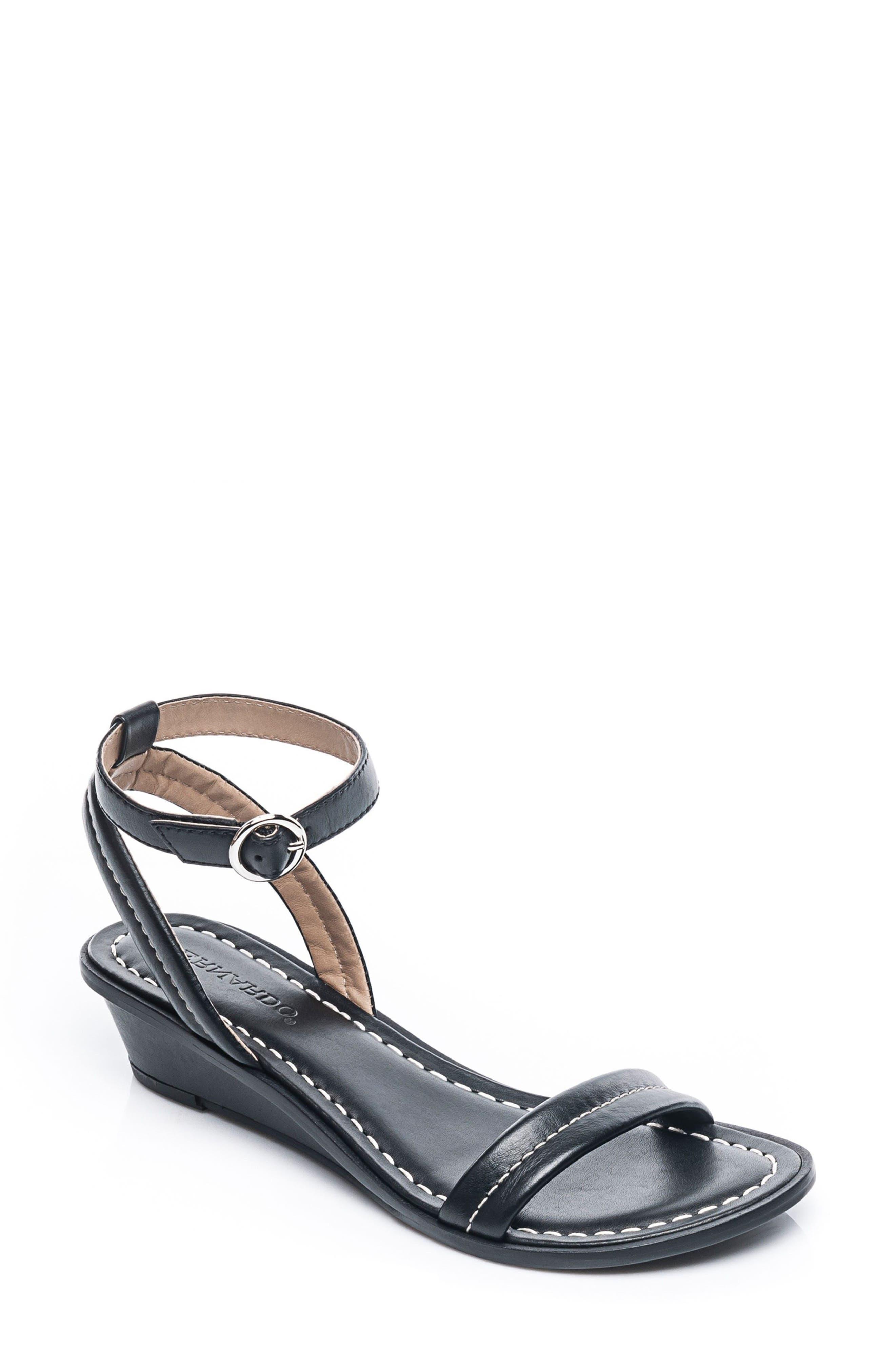 Bernardo Catherine Ankle Strap Sandal,                             Main thumbnail 1, color,                             BLACK ANTIQUE