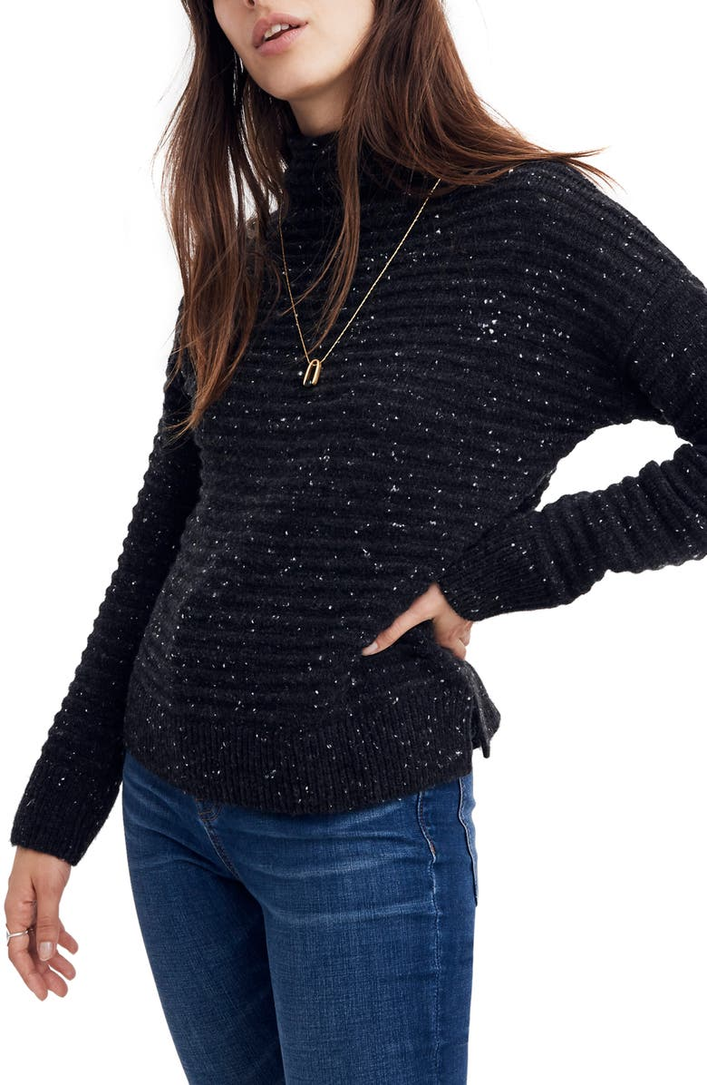 a3c4d07e6cf Madewell Belmont Donegal Mock Neck Sweater In Donegal Storm