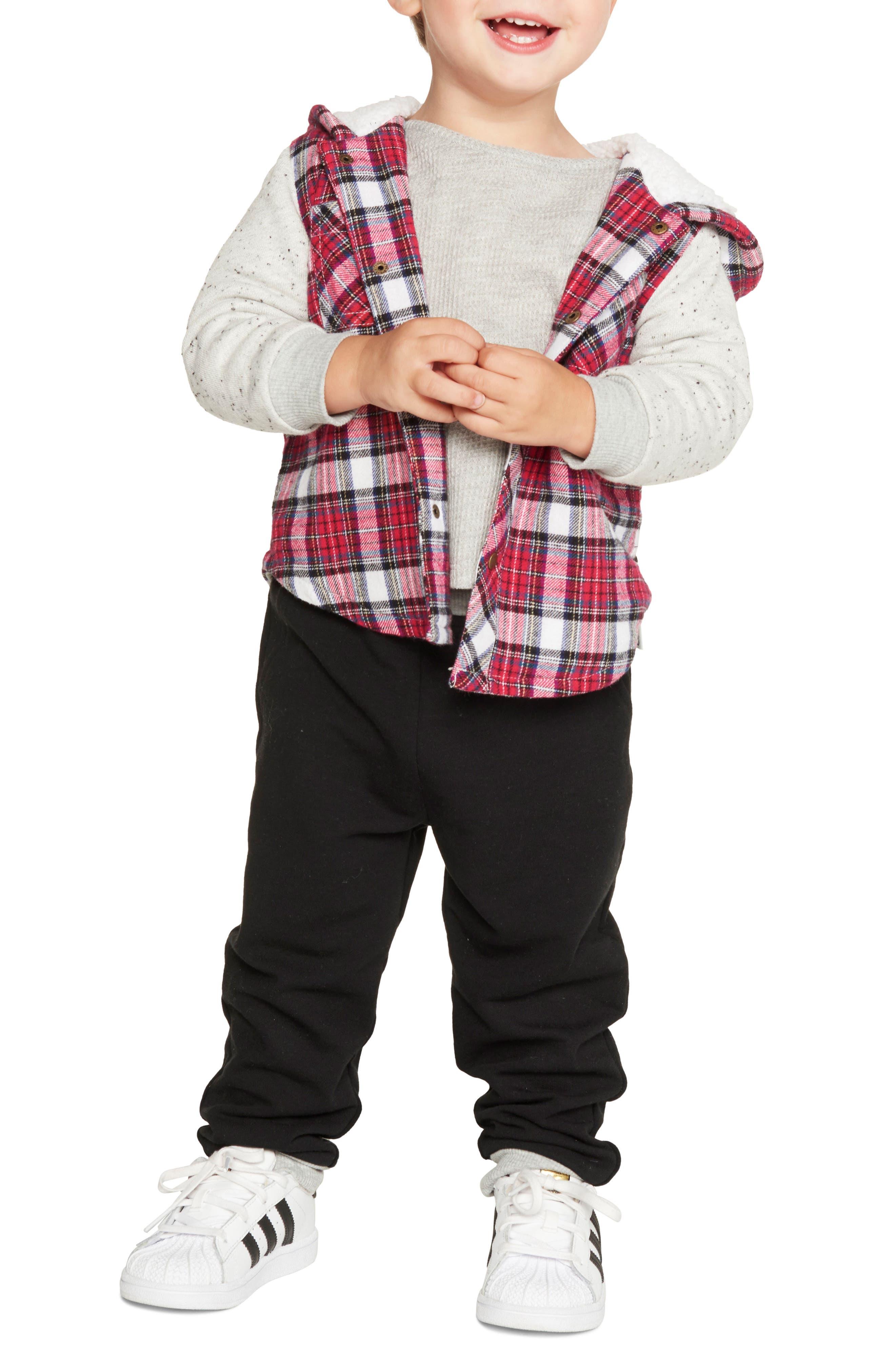 Hooded Jacket, Knit Top & Sweatpants Set,                             Alternate thumbnail 2, color,                             600