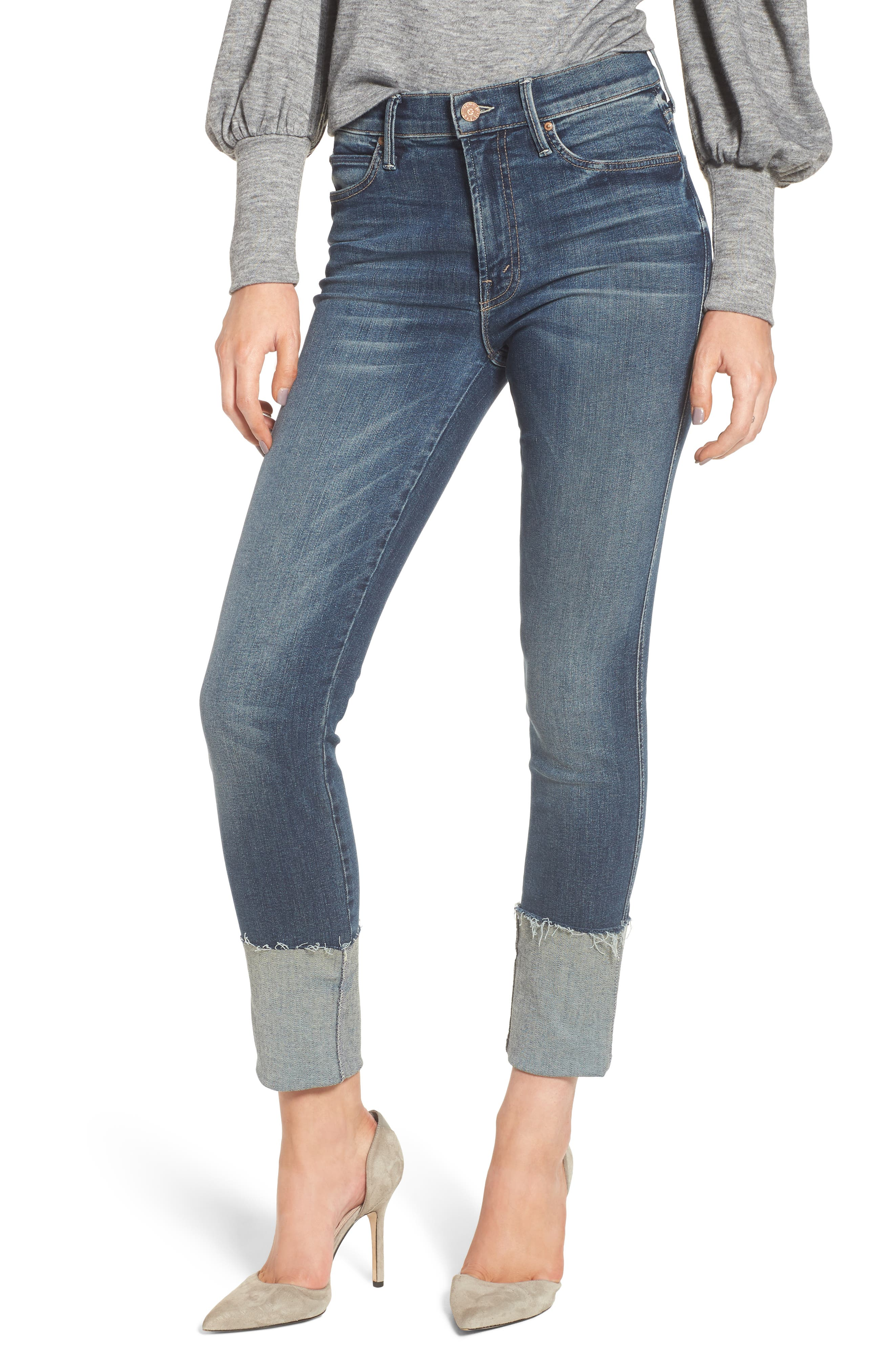 The Ponyboy Frayed Ankle Jeans,                             Main thumbnail 1, color,                             404
