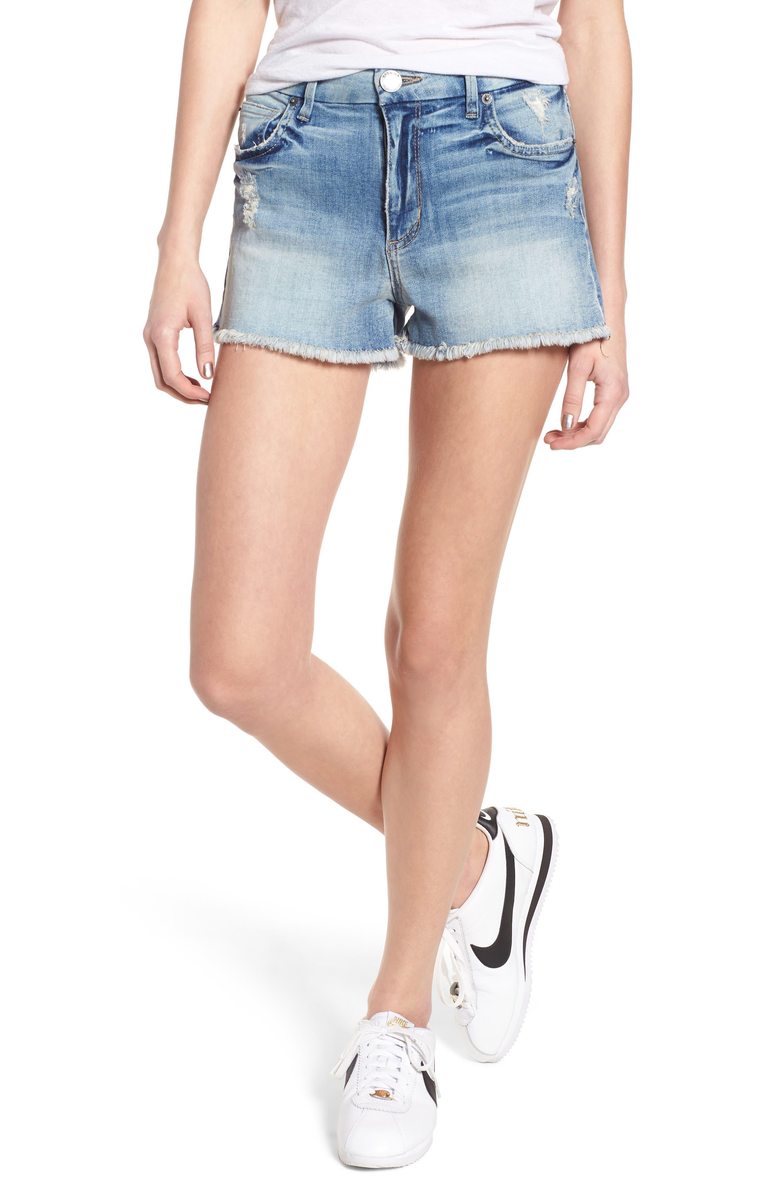 High Waist Boyfriend Shorts,                         Main,                         color, 400