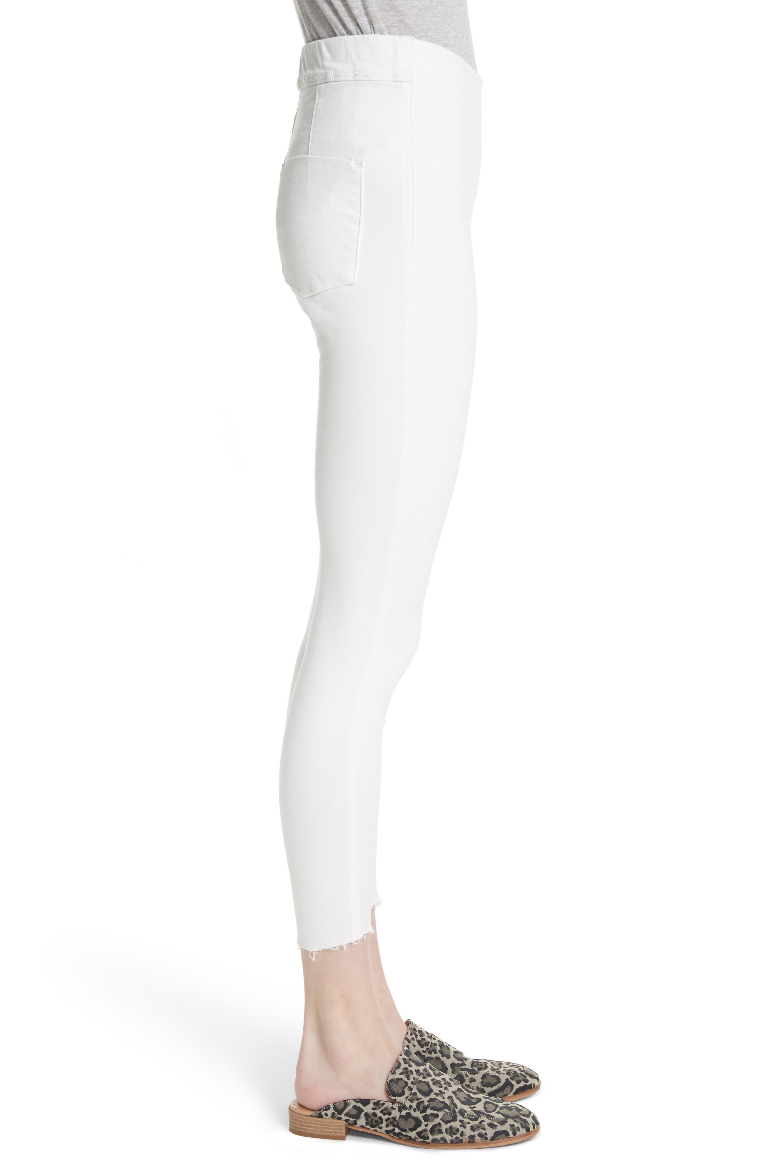 We the Free by Free People Easy Goes It Denim Leggings,                             Alternate thumbnail 3, color,                             WHITE