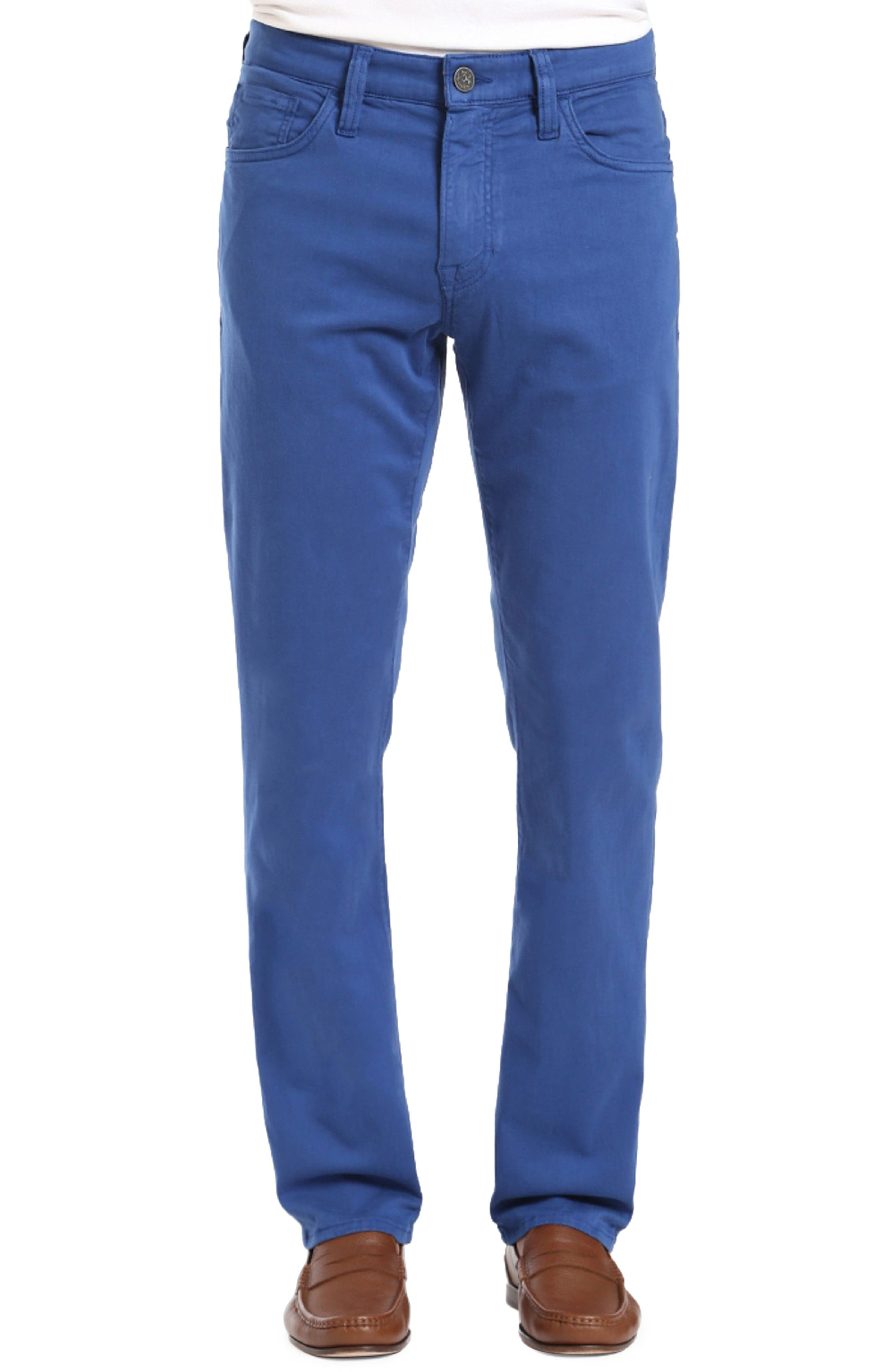 Courage Straight Leg Twill Pants,                         Main,                         color, BLUE