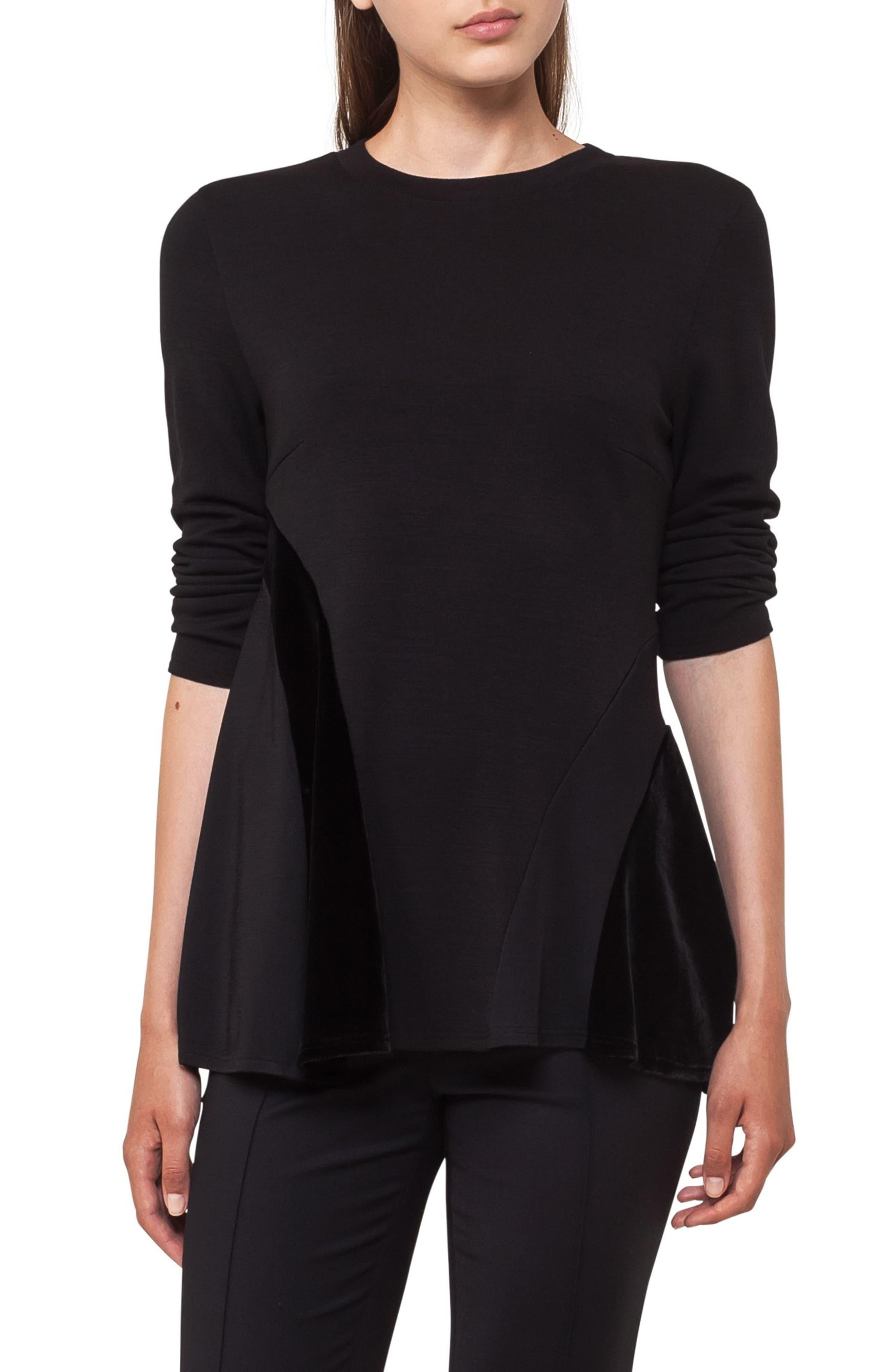 AKRIS PUNTO Quad Circle Sweatshirt, Main, color, 009