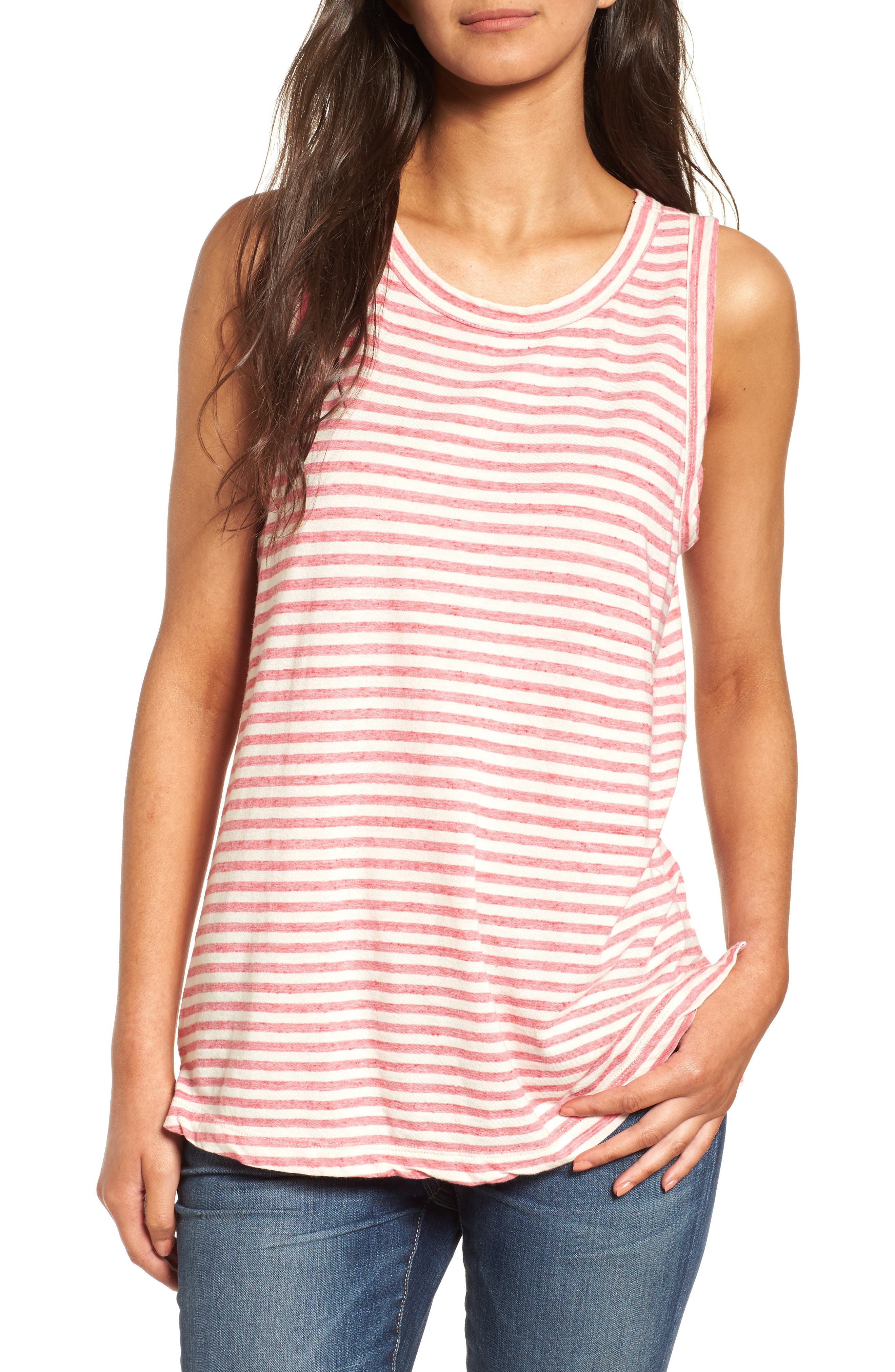 The Muscle Tee Stripe Tank,                         Main,                         color, 644