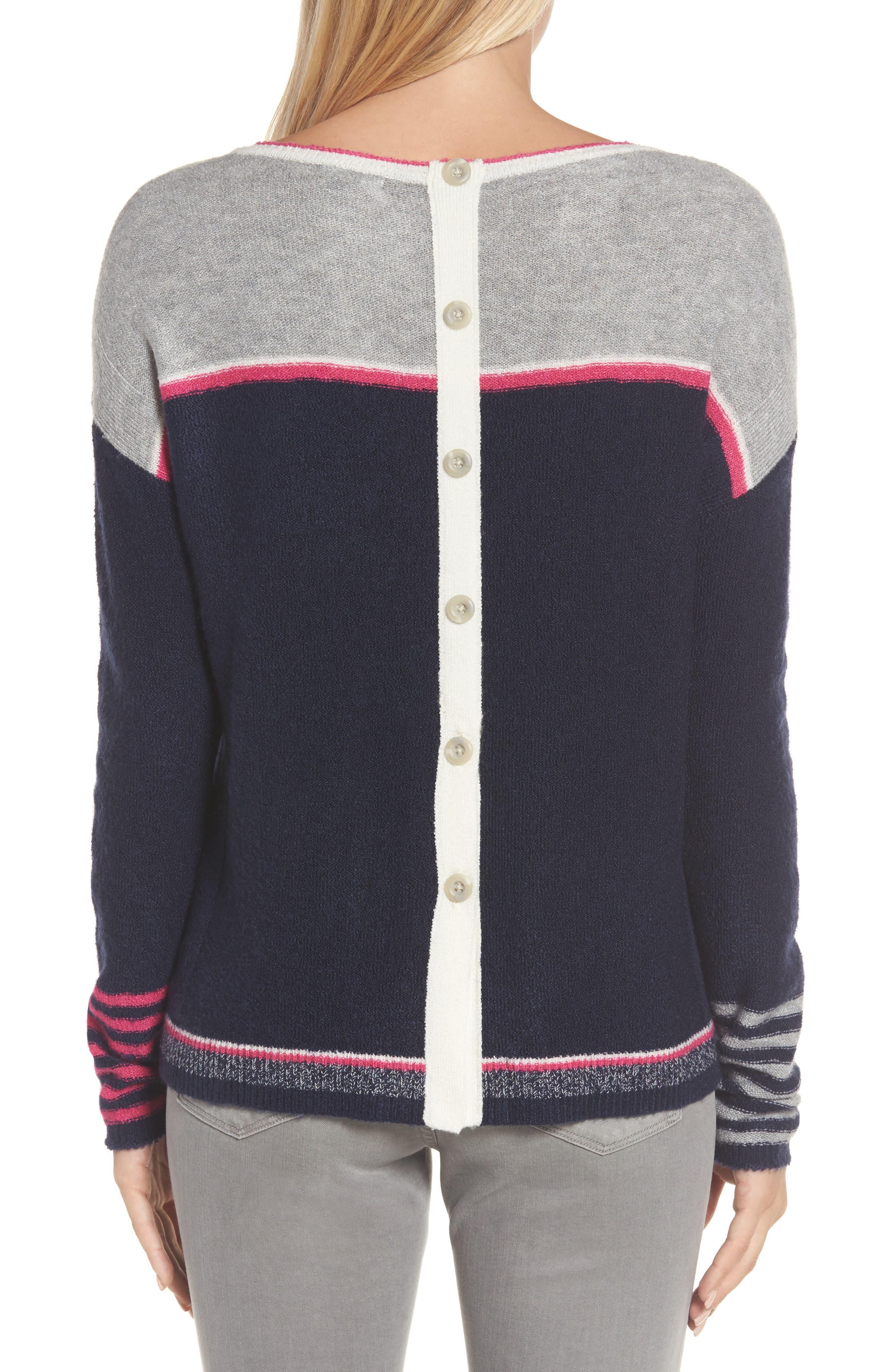 Button Back Sweater,                             Alternate thumbnail 2, color,                             410