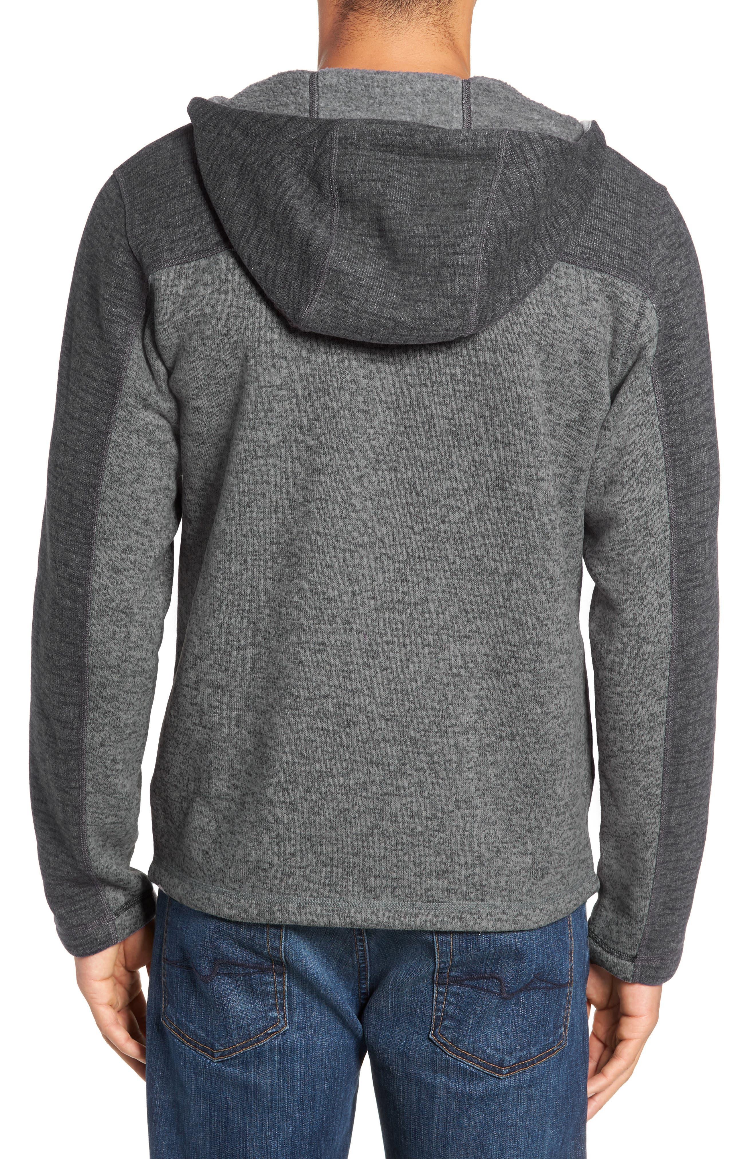 Gordon Lyons Alpine Sweater Fleece Hoodie,                             Alternate thumbnail 2, color,                             ASPHALT GREY/ MONUMENT GREY