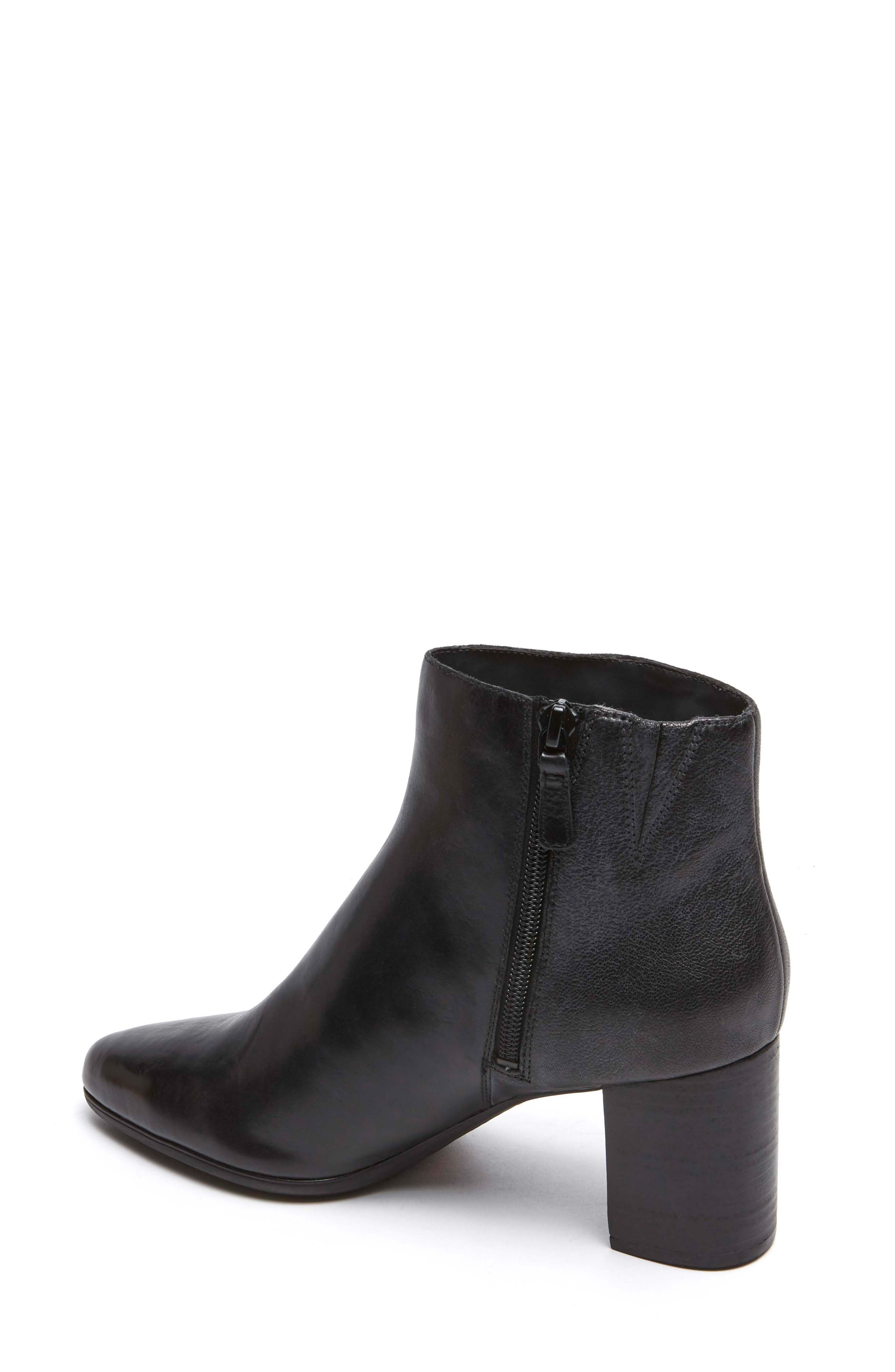 Lynix Luxe Bootie,                             Alternate thumbnail 2, color,                             BLACK LEATHER