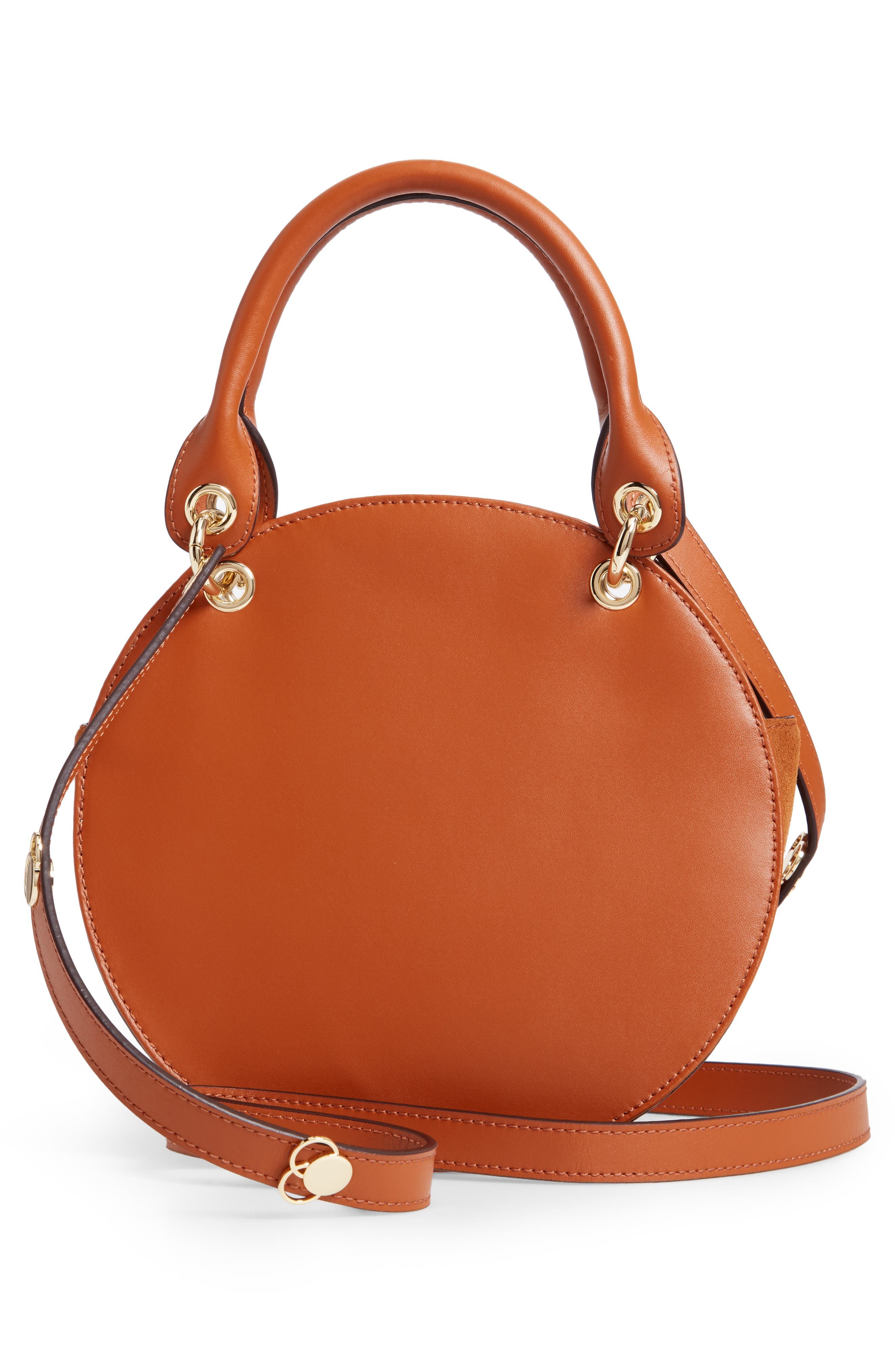 Colour by Numbers Sunnie Leather Circle Bag,                             Alternate thumbnail 3, color,                             217