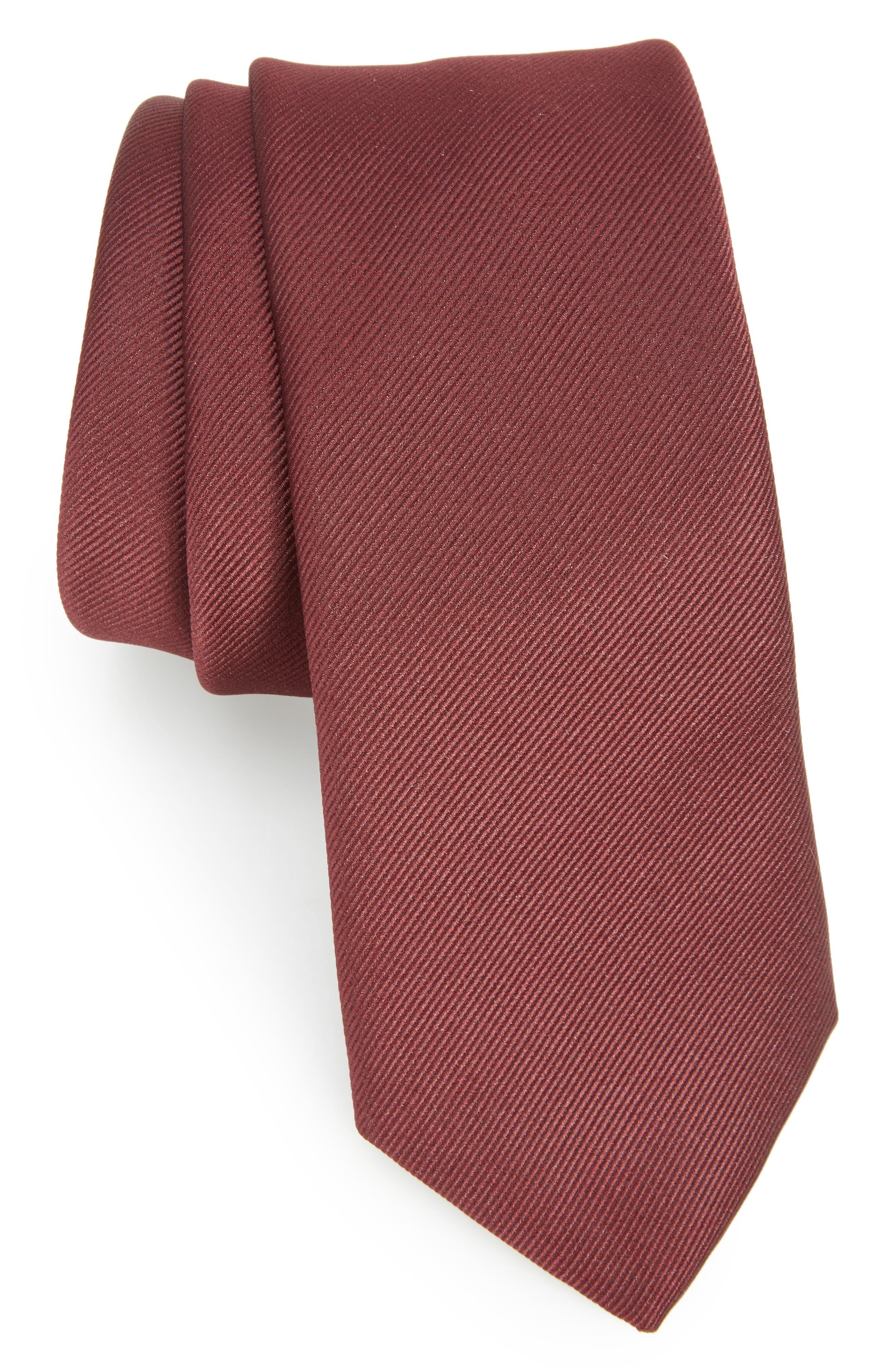 Tie,                             Main thumbnail 1, color,                             DARK RED