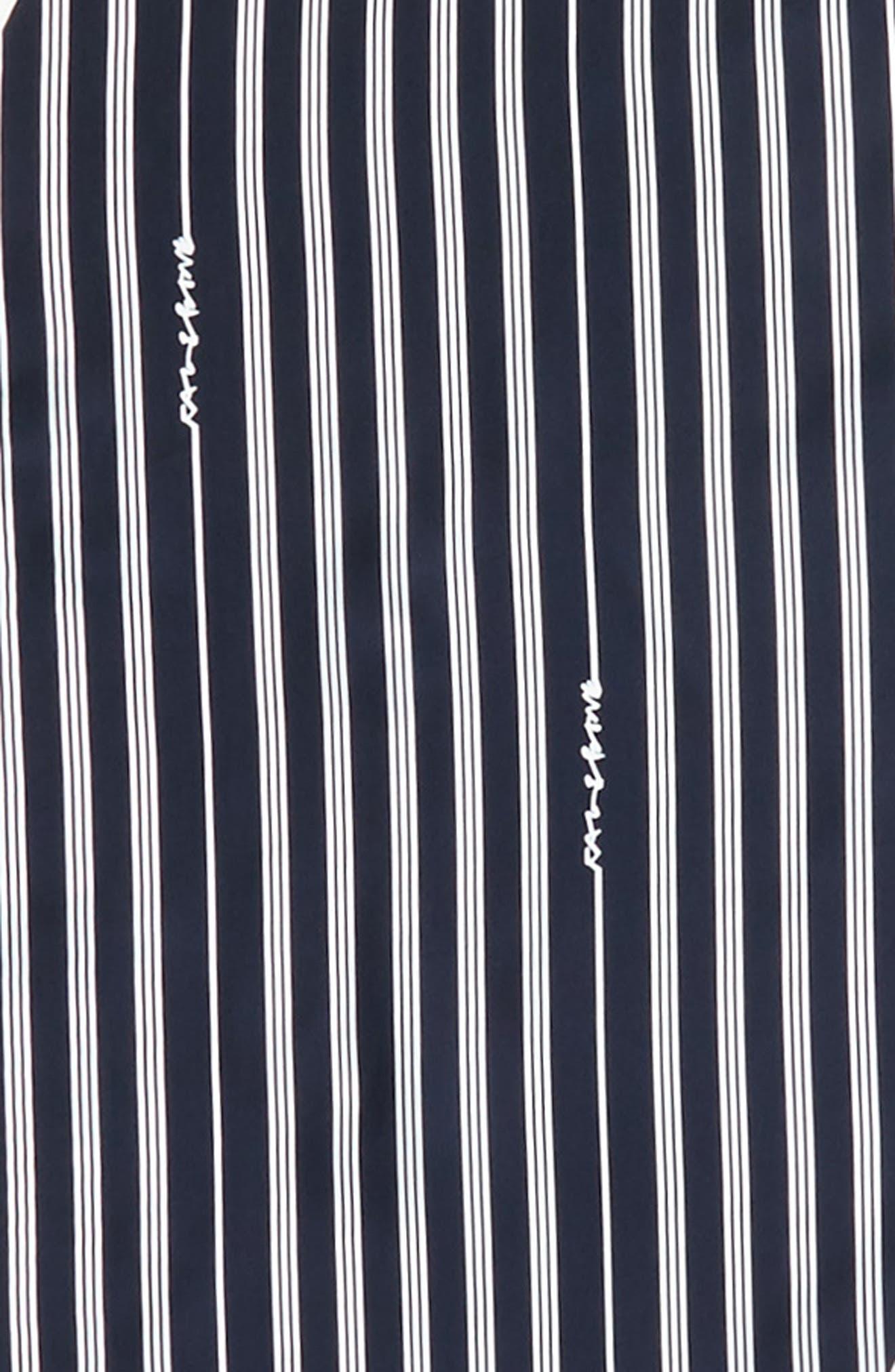 Narrow Stripe Silk Scarf,                             Alternate thumbnail 8, color,
