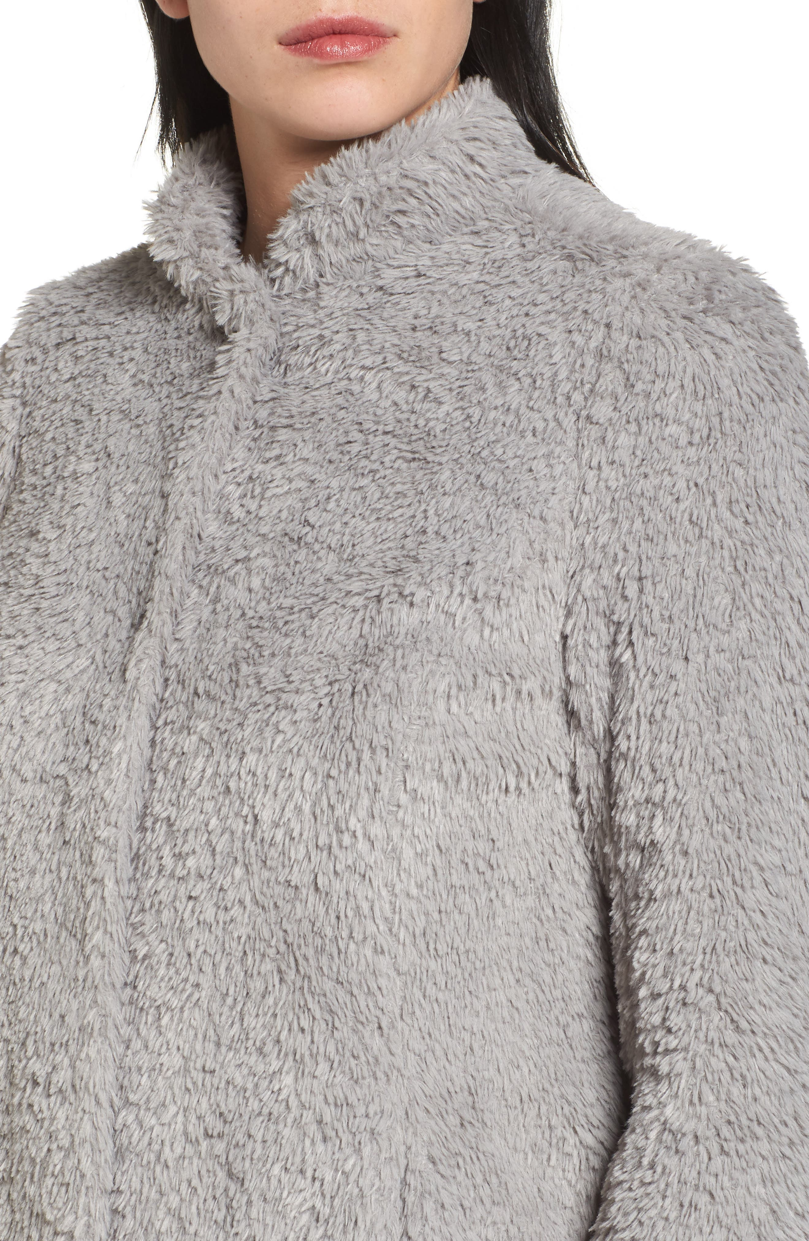 Faux Fur Jacket,                             Alternate thumbnail 4, color,                             033