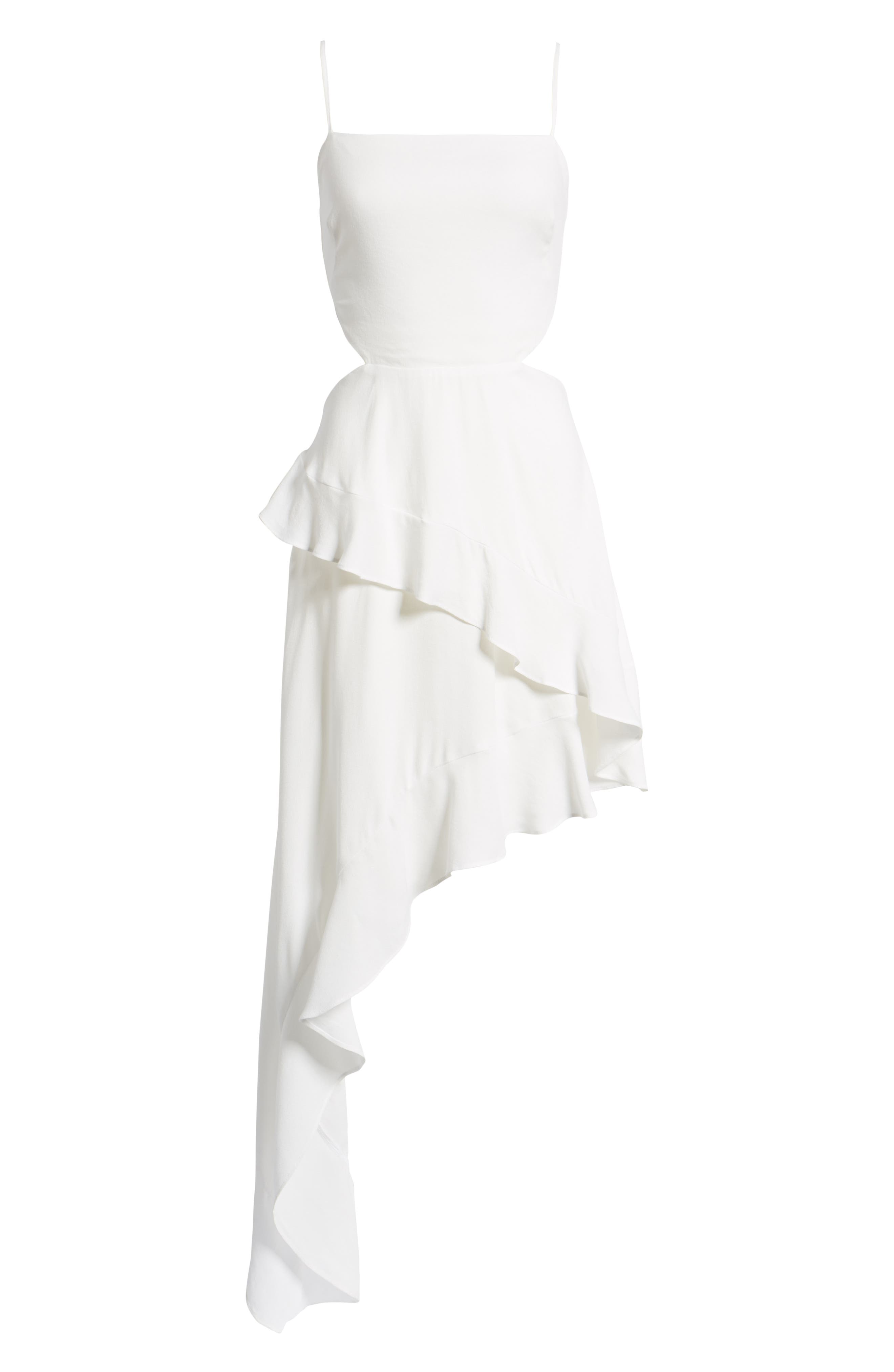 Cayli Asymmetrical Dress,                             Alternate thumbnail 7, color,                             100
