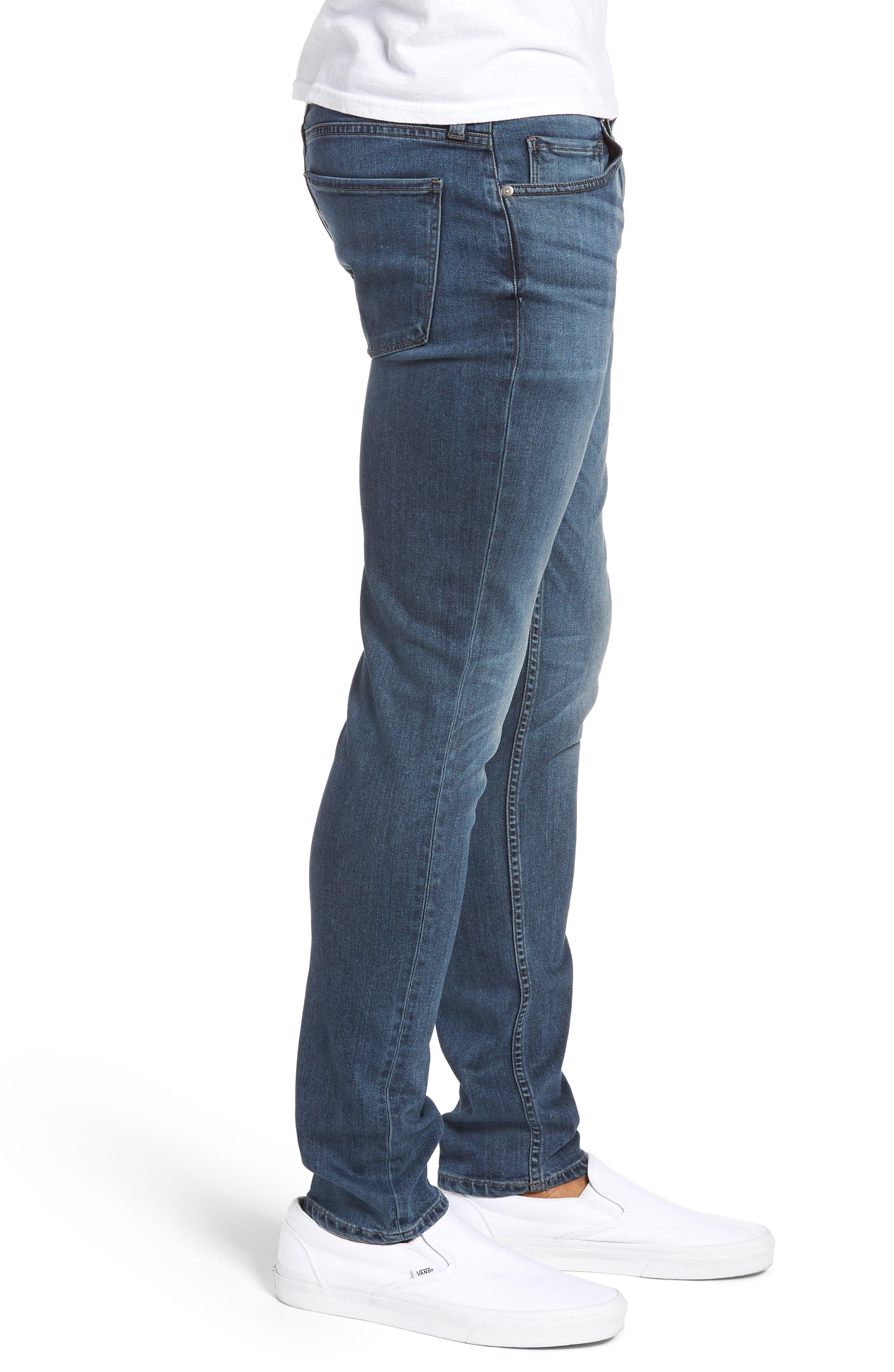 Transcend - Croft Skinny Fit Jeans,                             Alternate thumbnail 3, color,                             GRAMMERCY